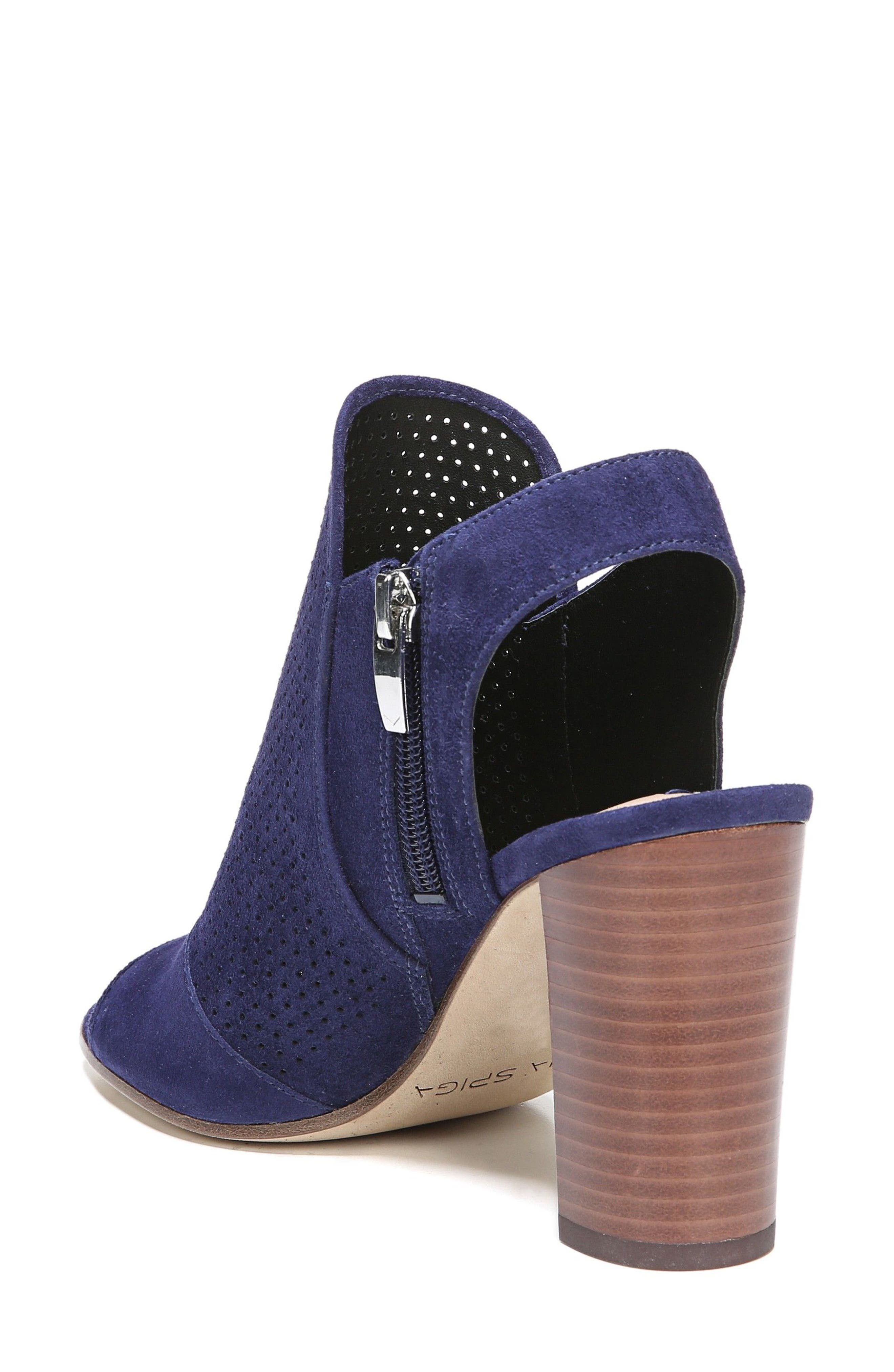 Gaze Block Heel Sandal,                             Alternate thumbnail 2, color,                             Marina Blue Suede
