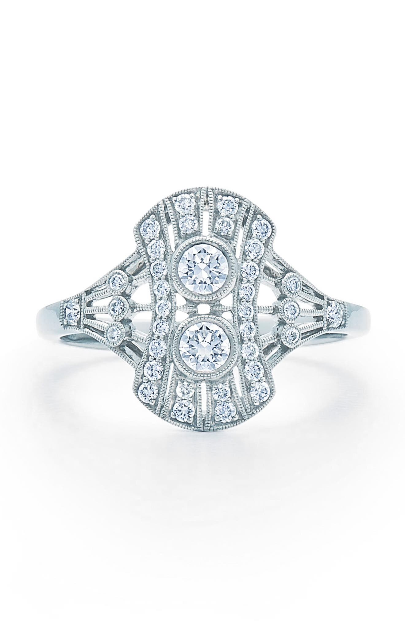 Kwiat Vintage Oval Diamond Ring