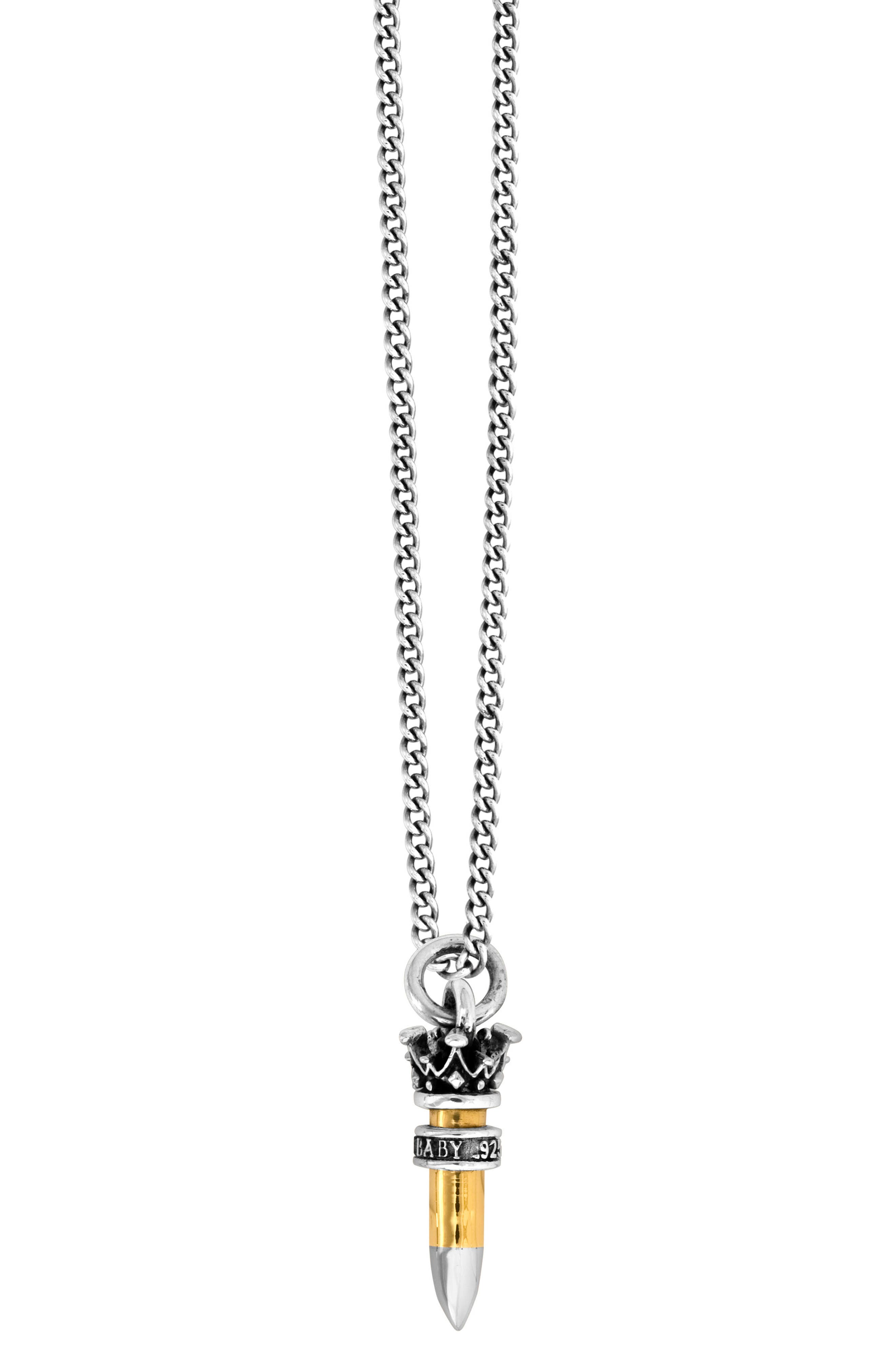 KING BABY .22 Caliber Bullet Pendant Necklace