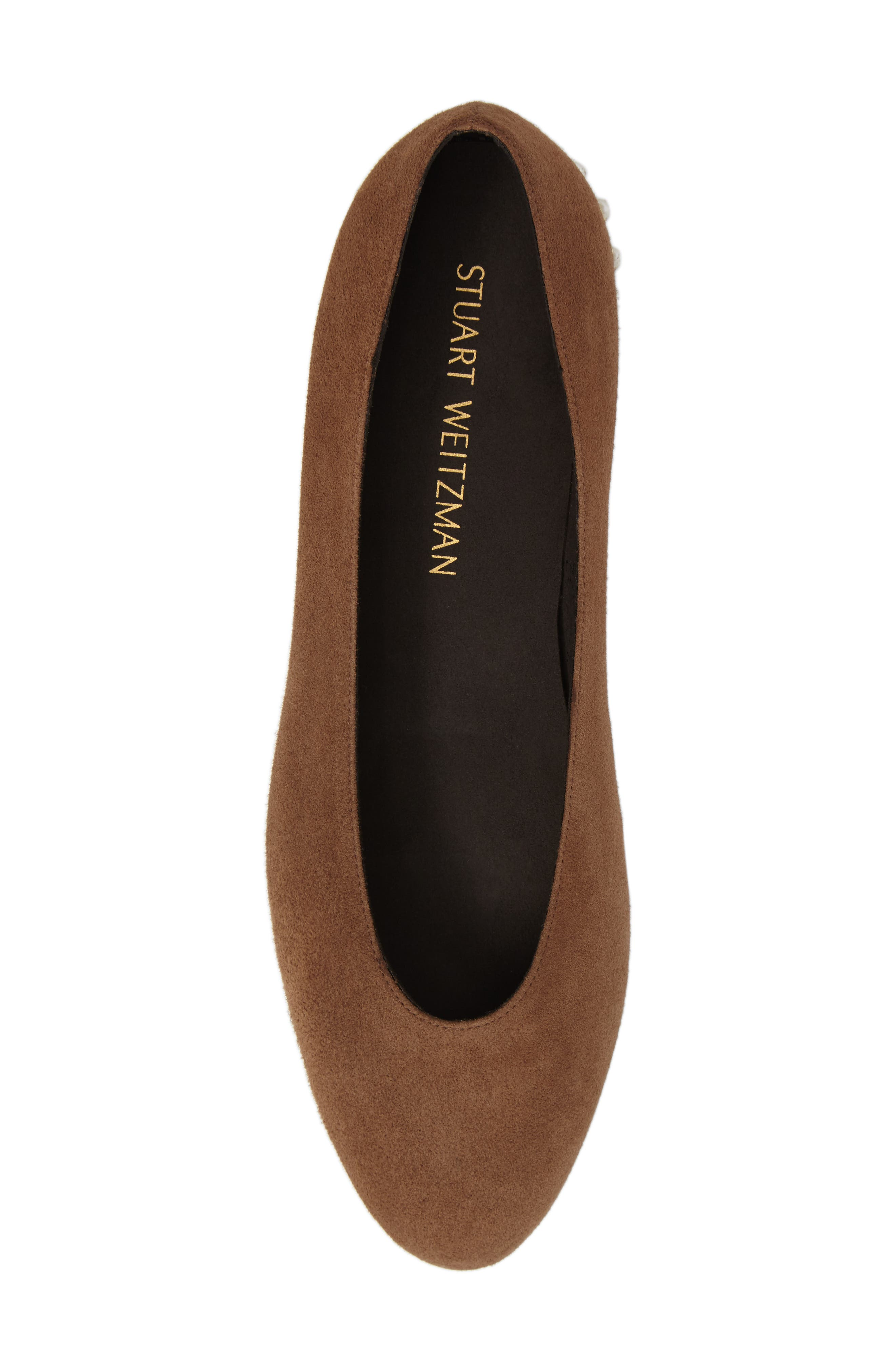 Chicpearl Ballet Flat,                             Alternate thumbnail 5, color,                             Nutmeg Suede