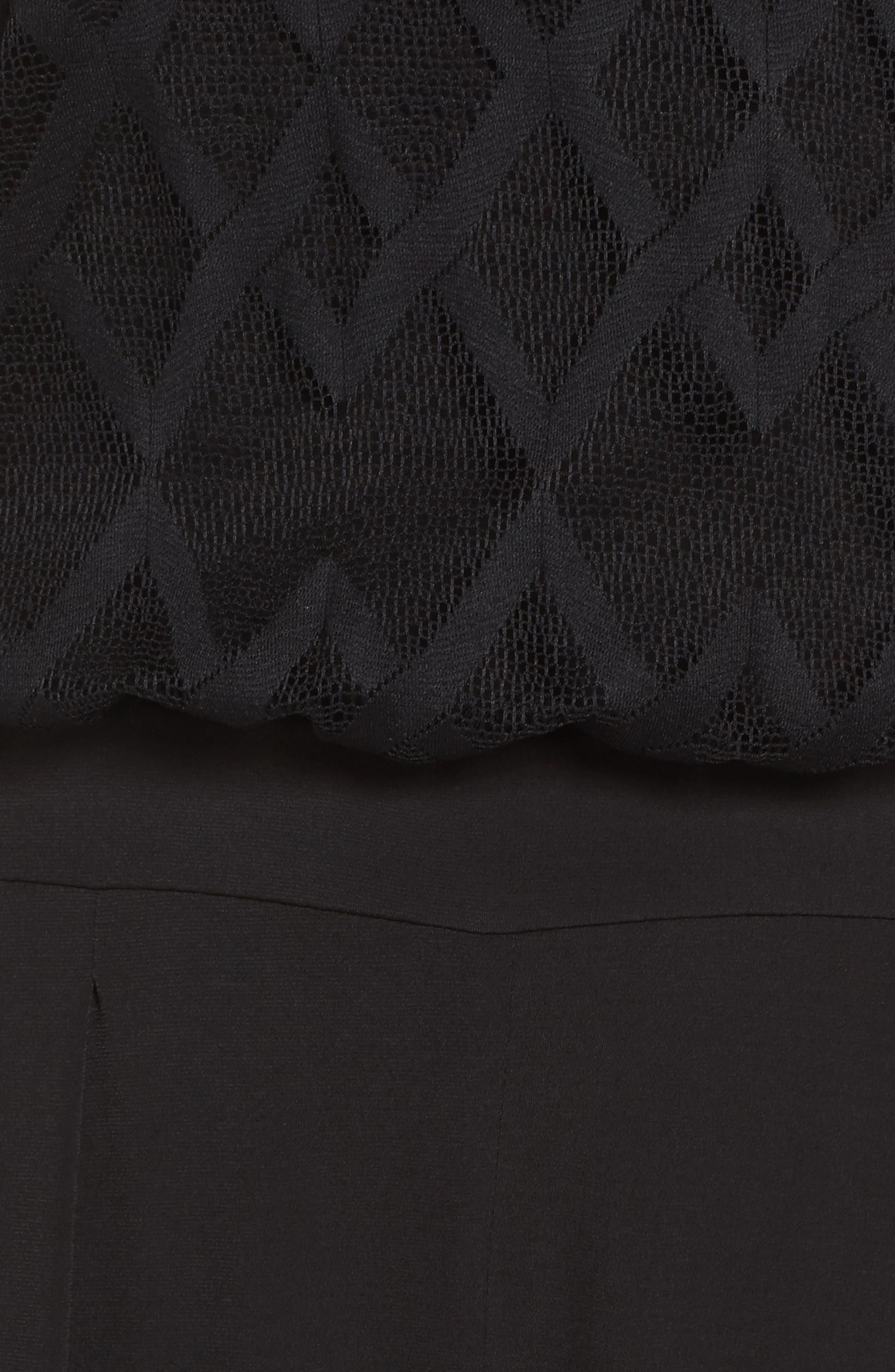 Alternate Image 5  - Julia Jordan Jersey & Mesh Jumpsuit