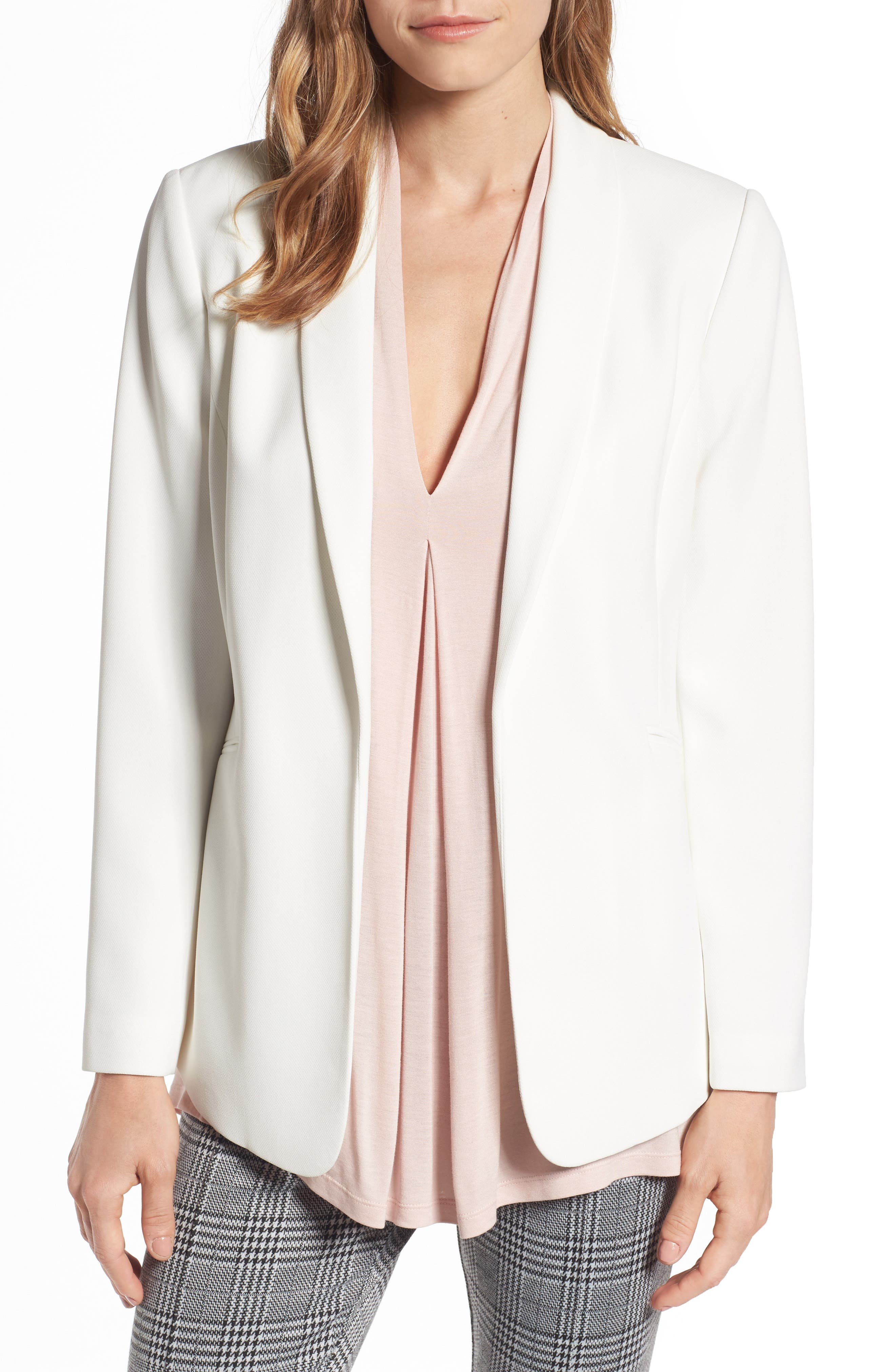 Alternate Image 1 Selected - Vince Camuto Texture Base Blazer (Regular & Petite)