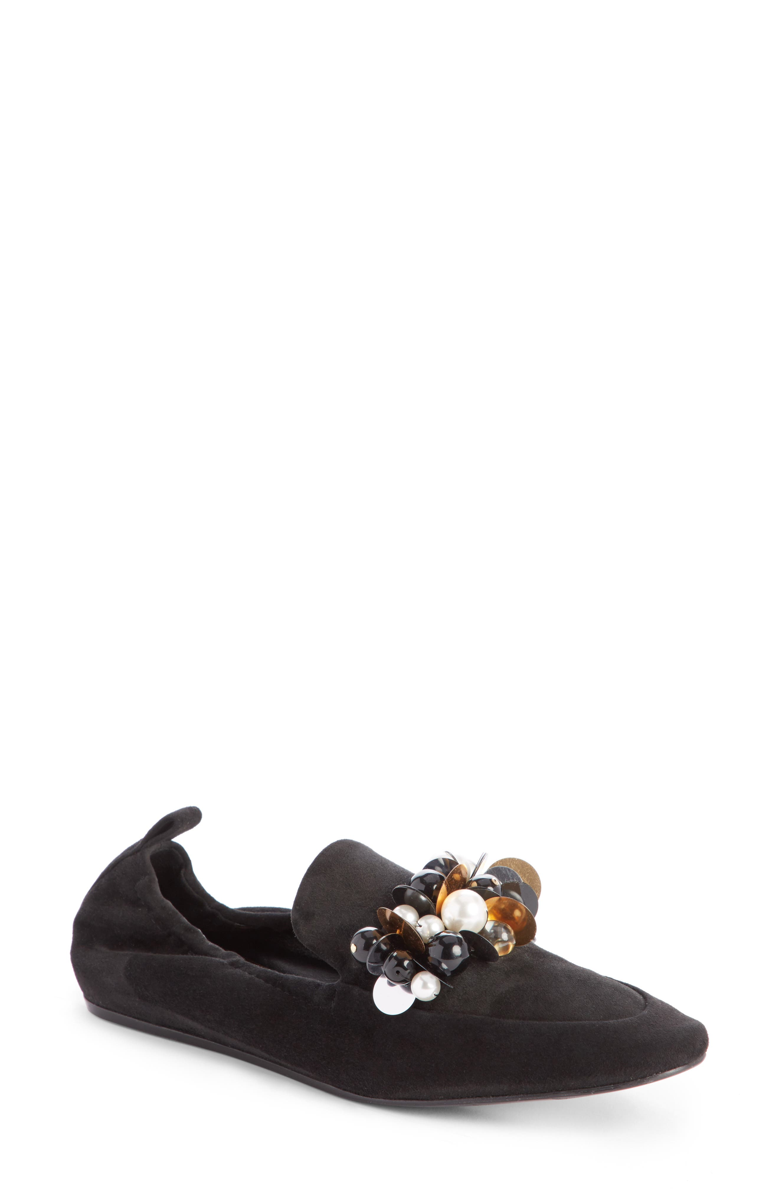Pearl Slipper Loafer,                             Main thumbnail 1, color,                             Black