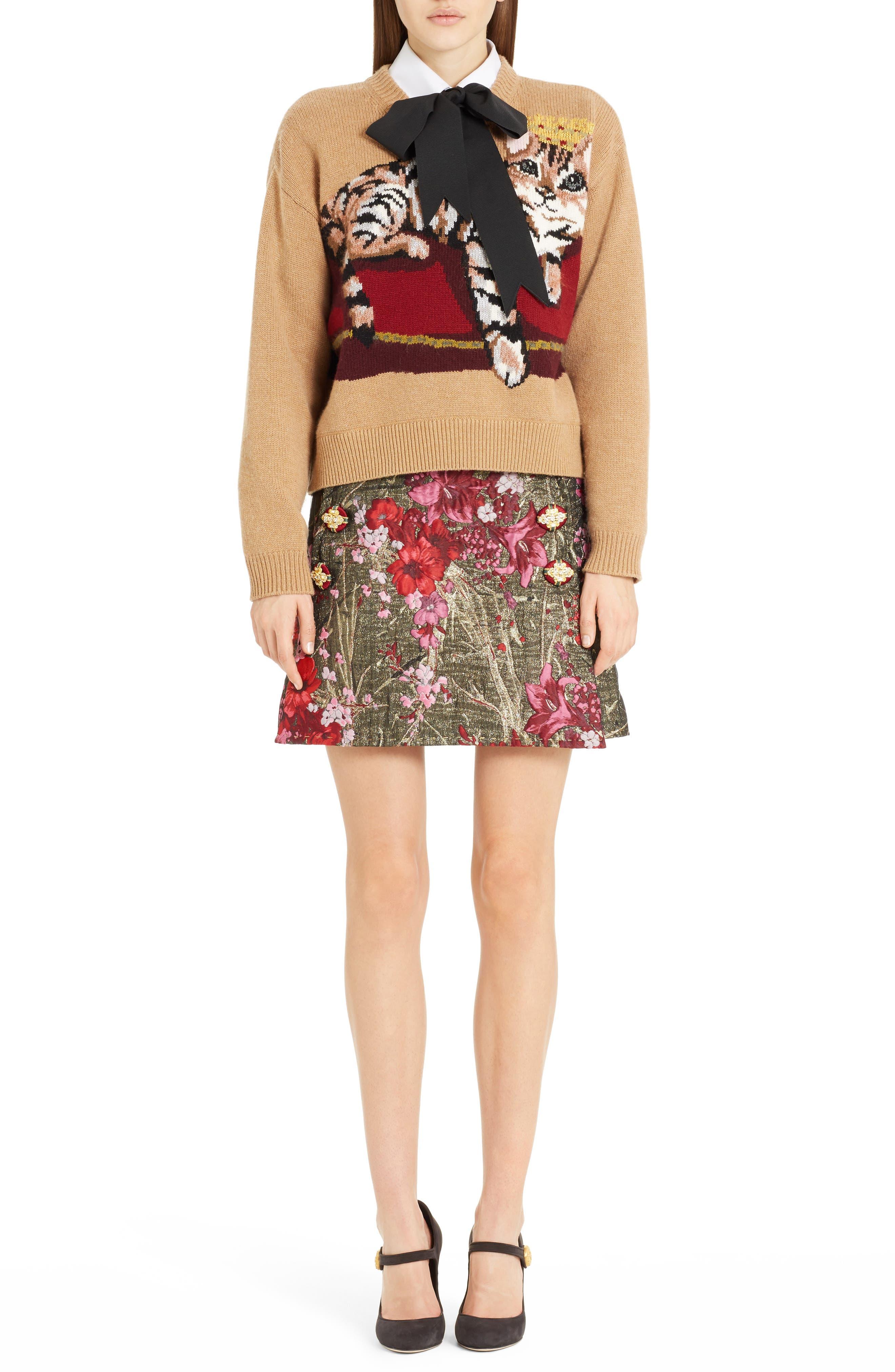 Alternate Image 6  - Dolce&Gabbana Metallic Jacquard Miniskirt