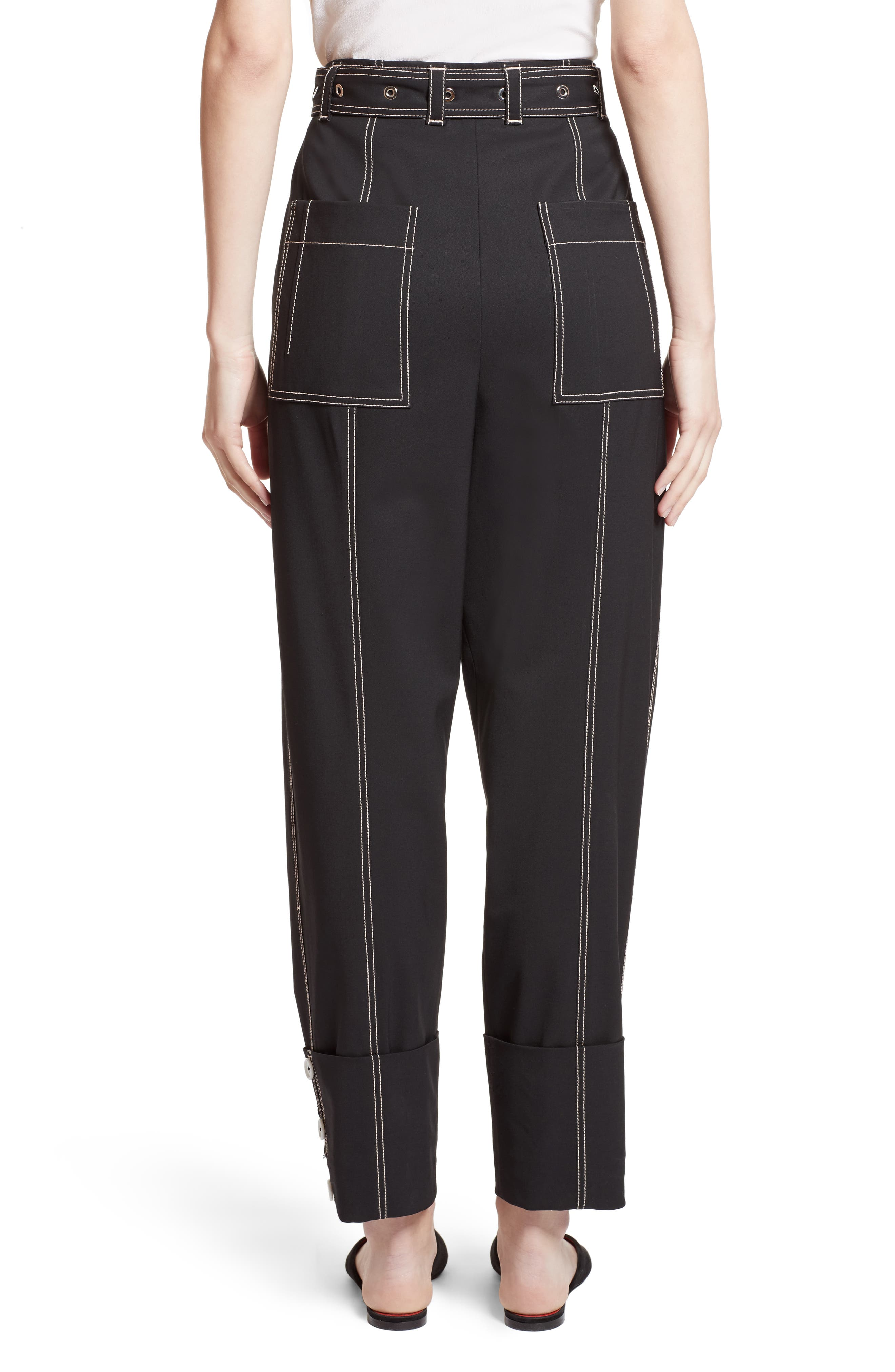 Alternate Image 2  - Proenza Schouler Cuff Straight Leg Pants