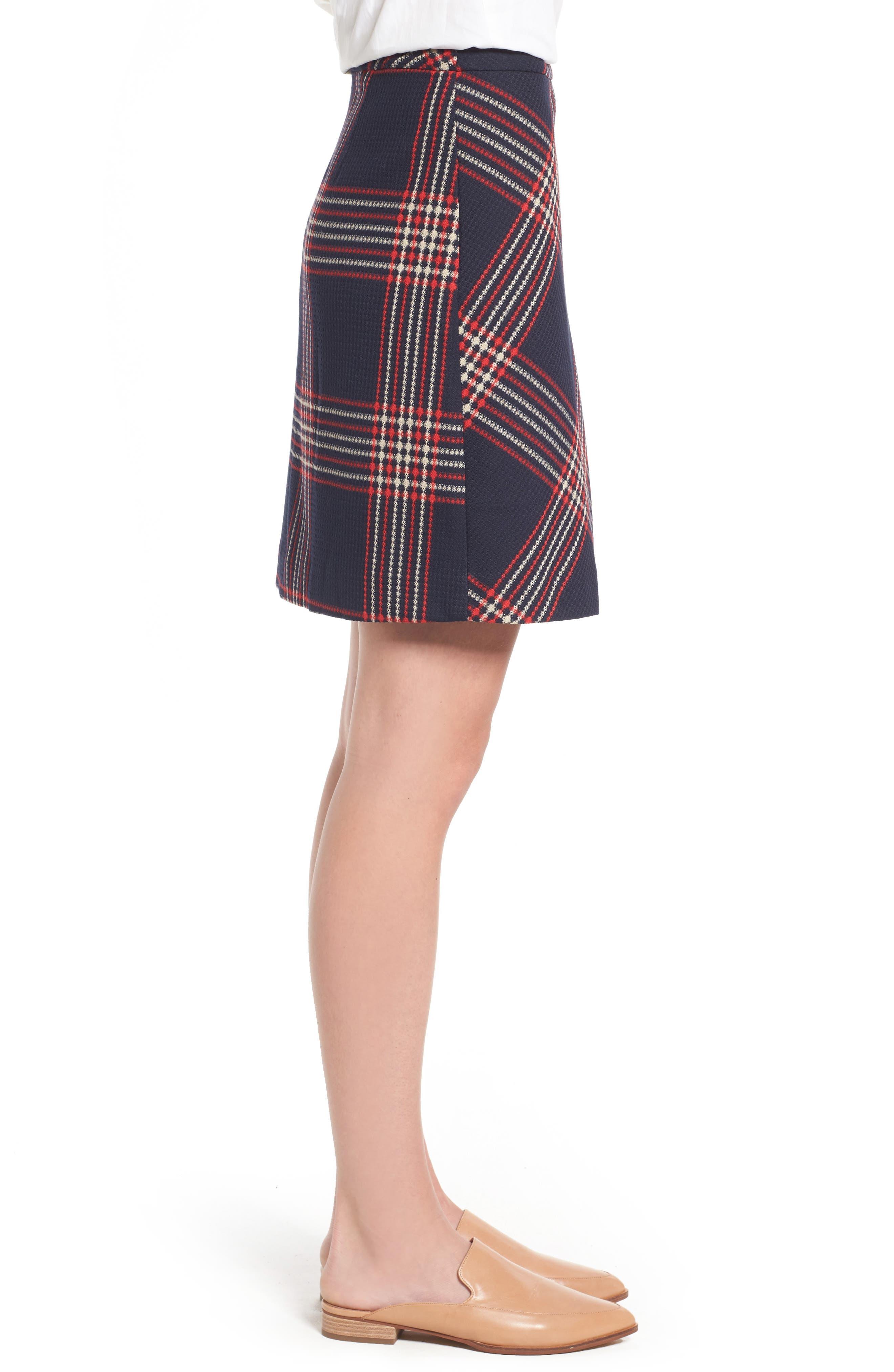 Alternate Image 4  - Halogen® Plaid Miniskirt (Regular & Petite)