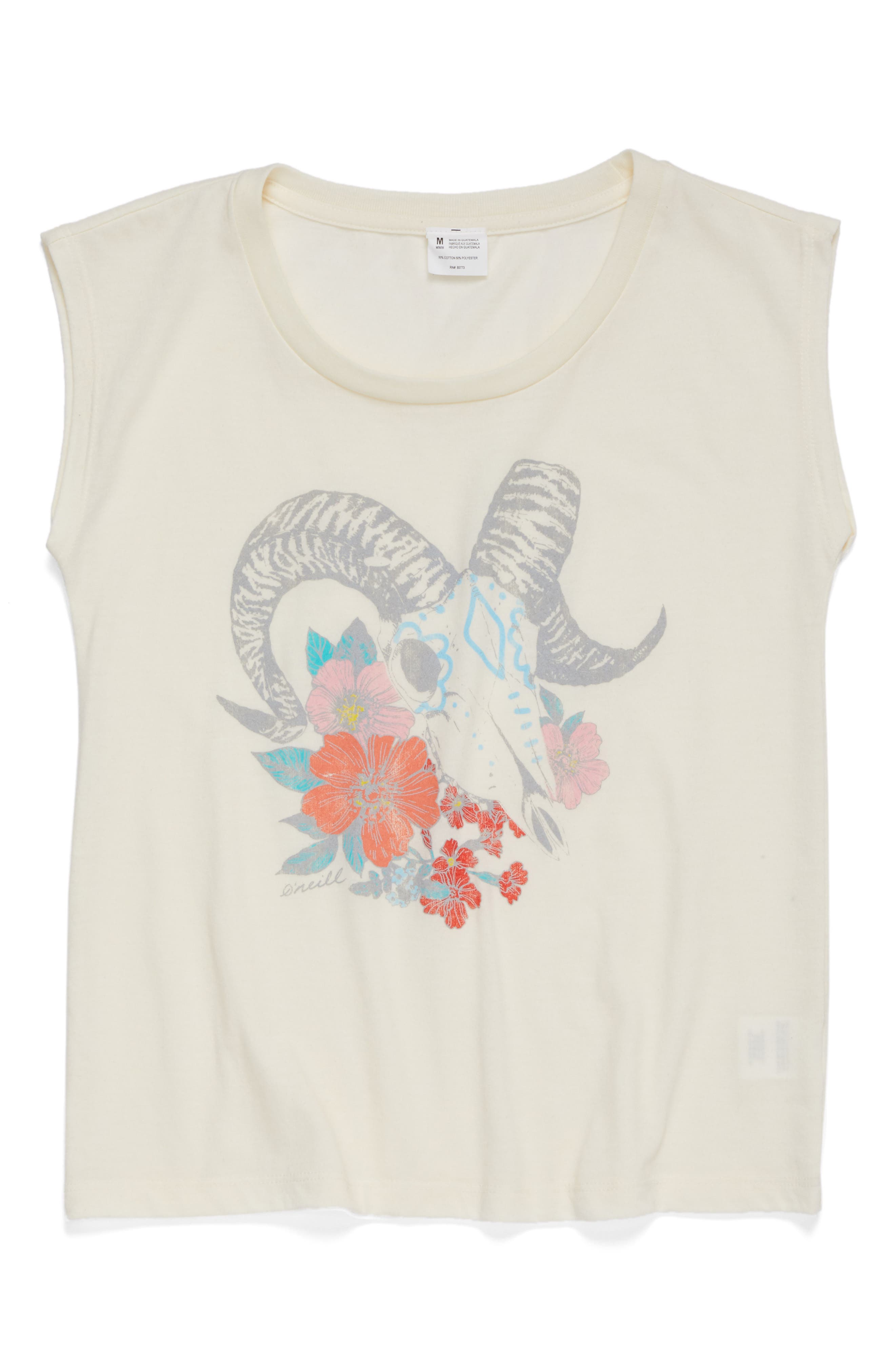 O'Neill Aries Sky Graphic Muscle Tee (Big Girls)