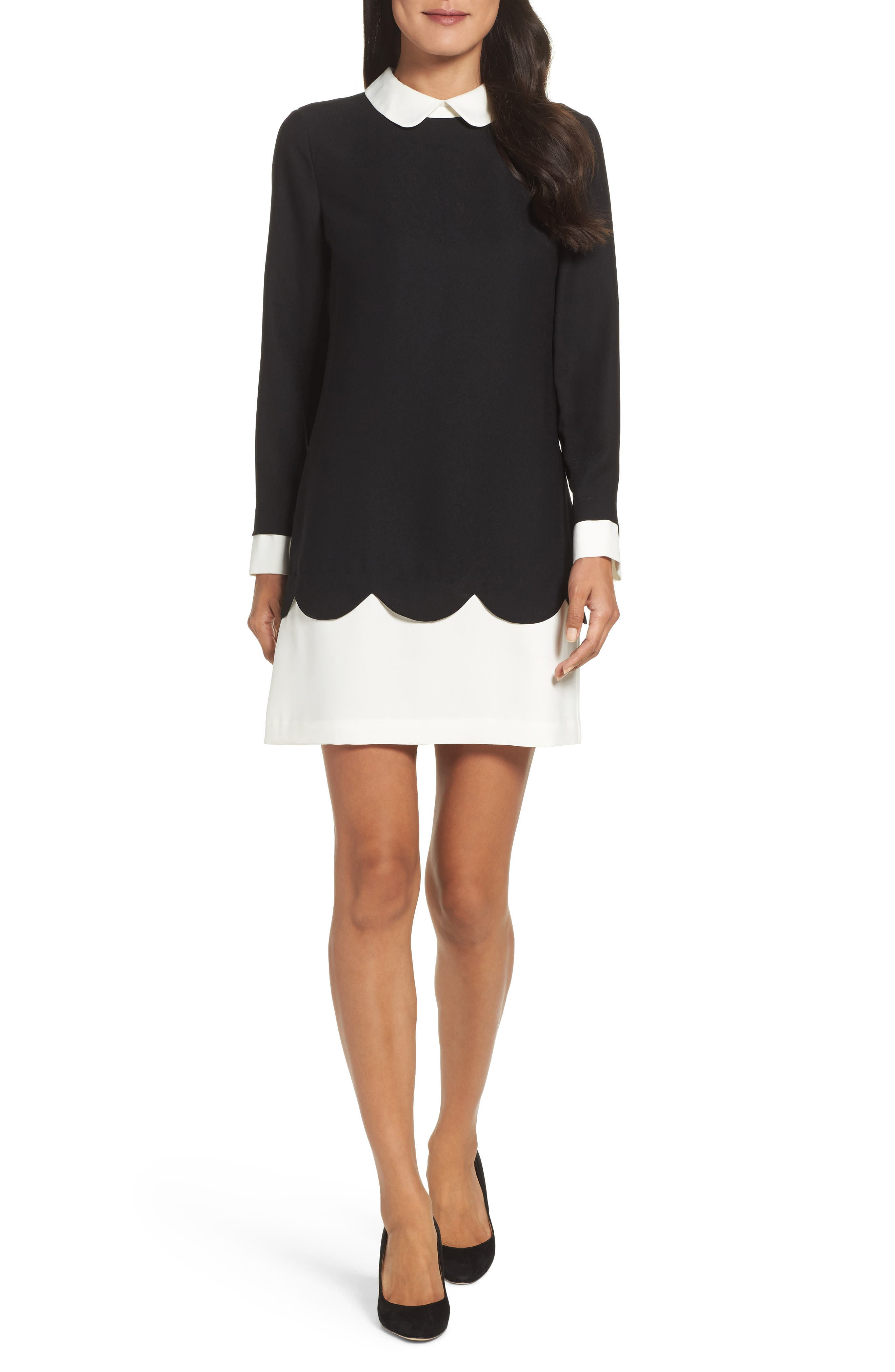 Cece Jada Scallop Shirtdress (Regular & Petite)