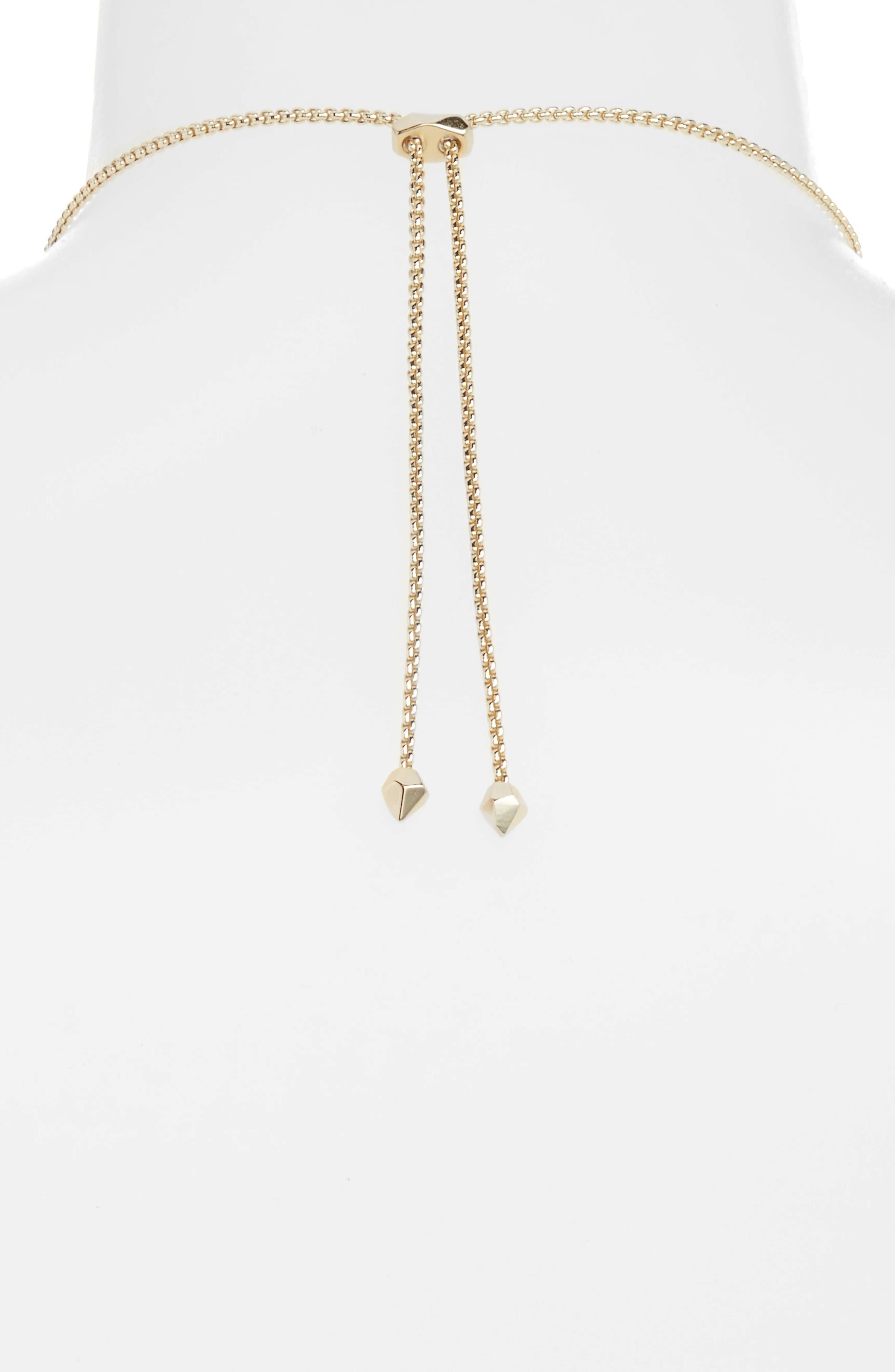Harper Collar Necklace,                             Alternate thumbnail 2, color,                             White Cz/ Gold