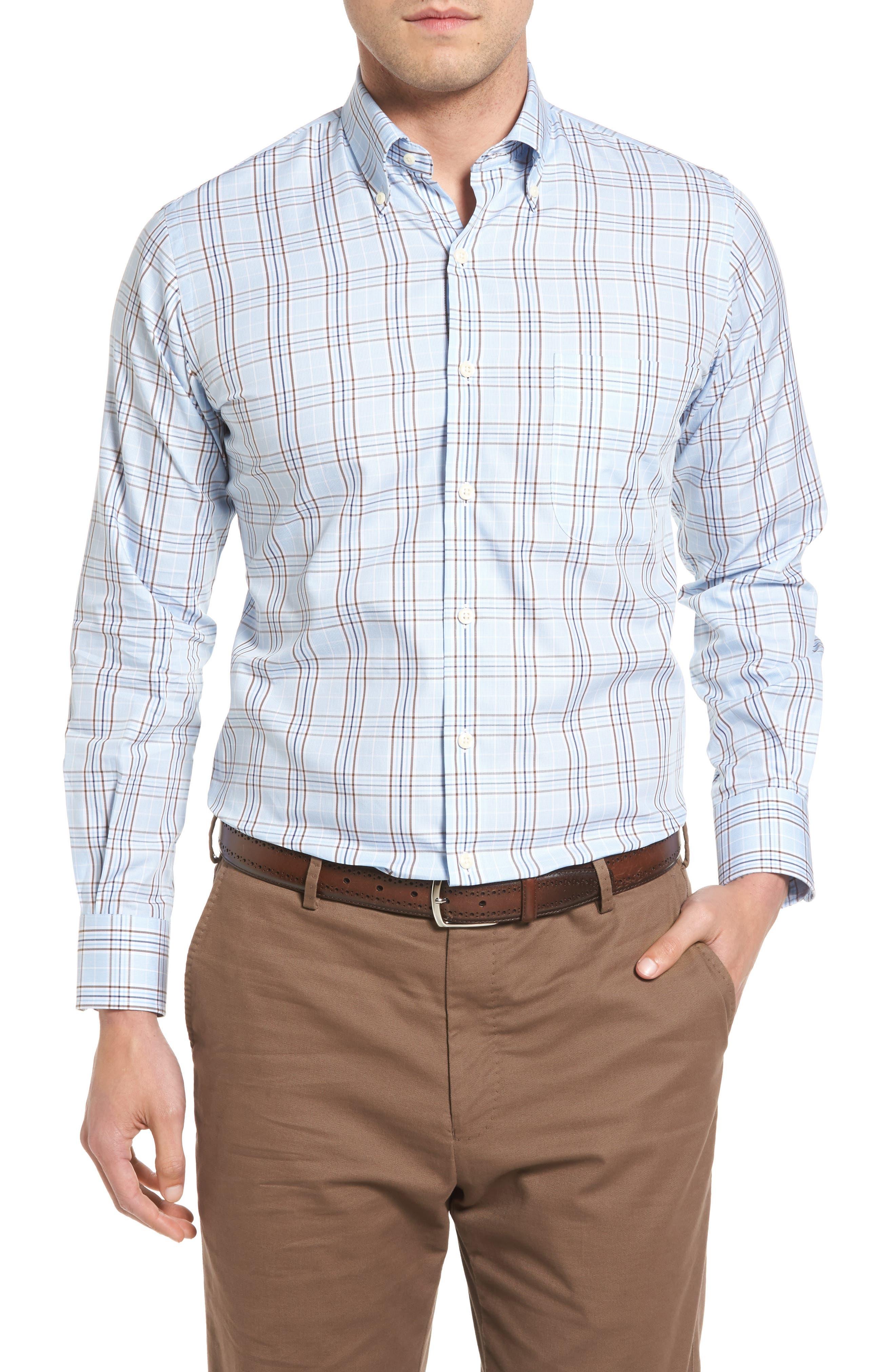 Peter Millar River Glen Plaid Regular Fit Sport Shirt
