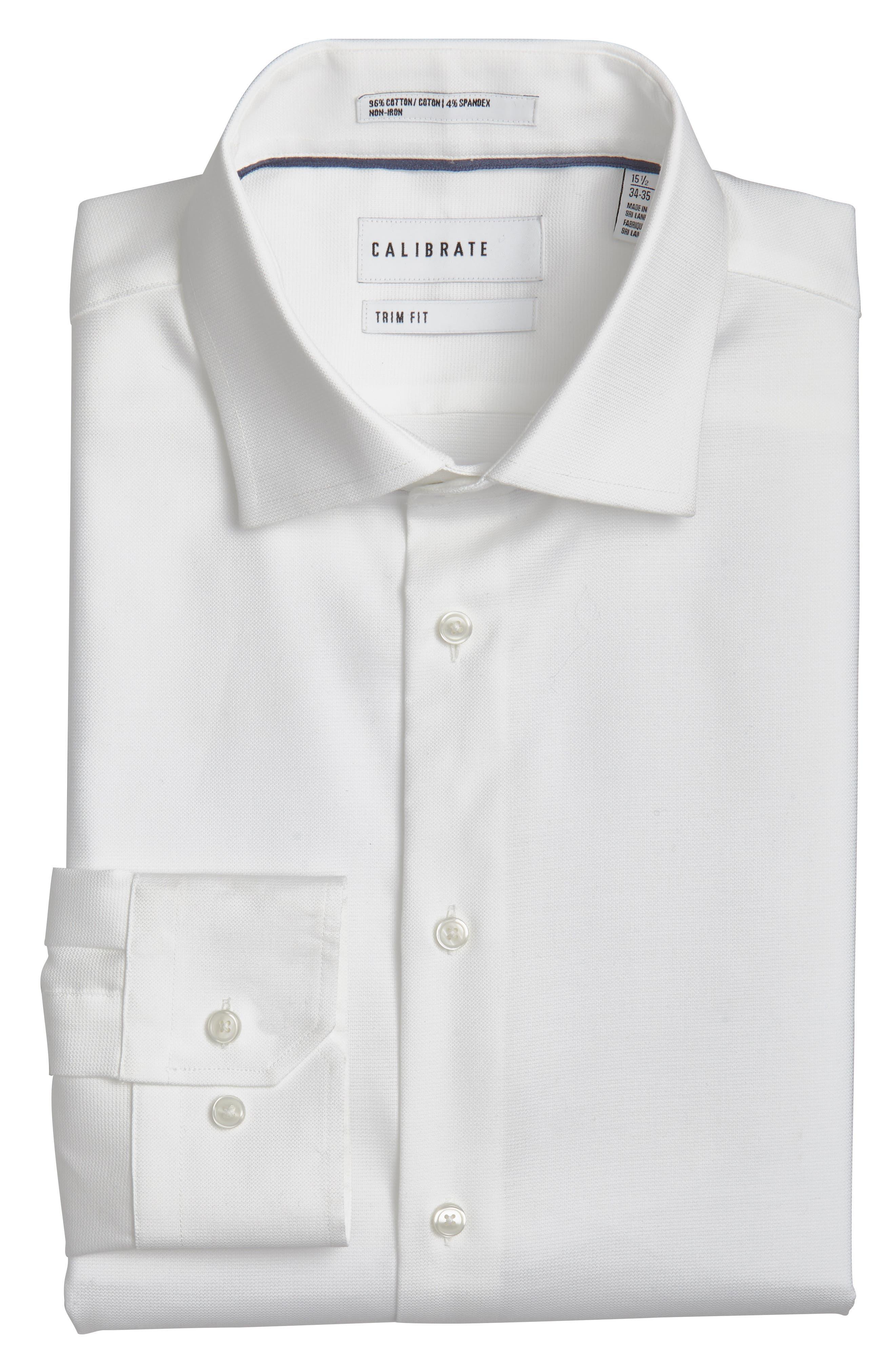 CALIBRATE Trim Fit Non-Iron Dress Shirt