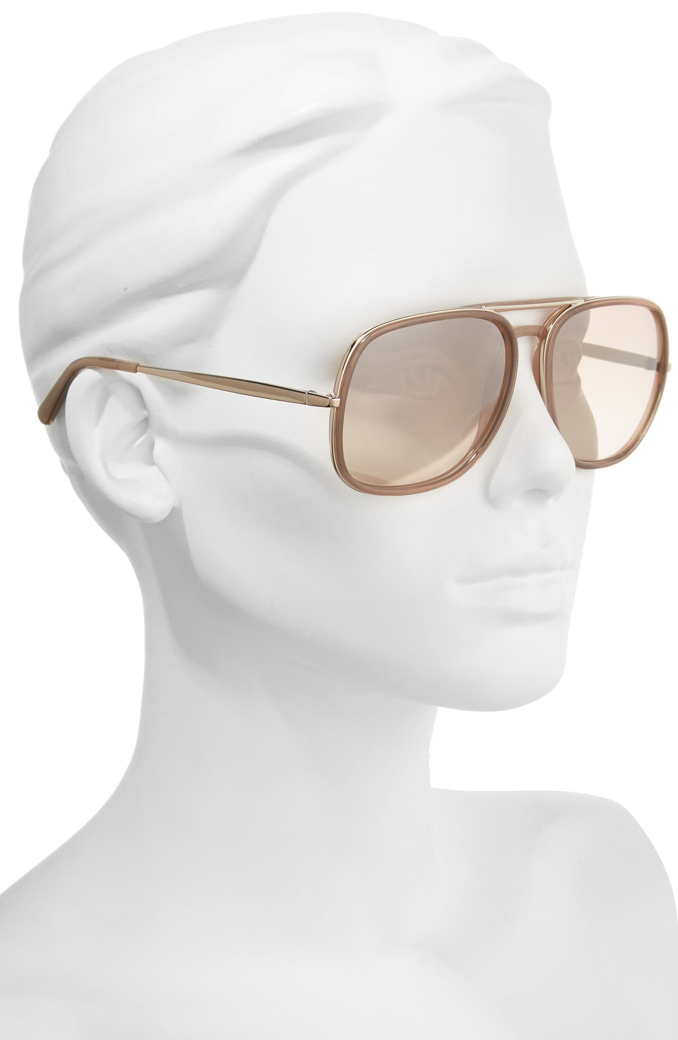 Alternate Image 2  - Chloé 60mm Gradient Lens Navigator Sunglasses
