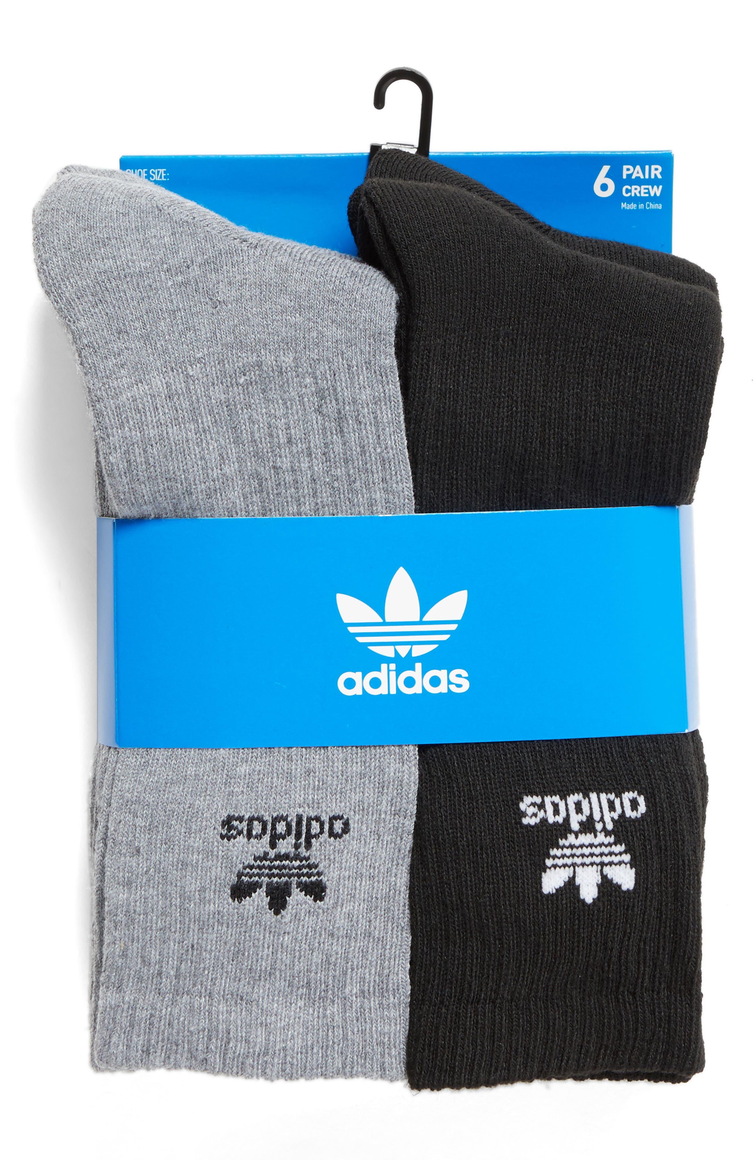 Alternate Image 3  - adidas Originals 6-Pack Original Trefoil Crew Socks