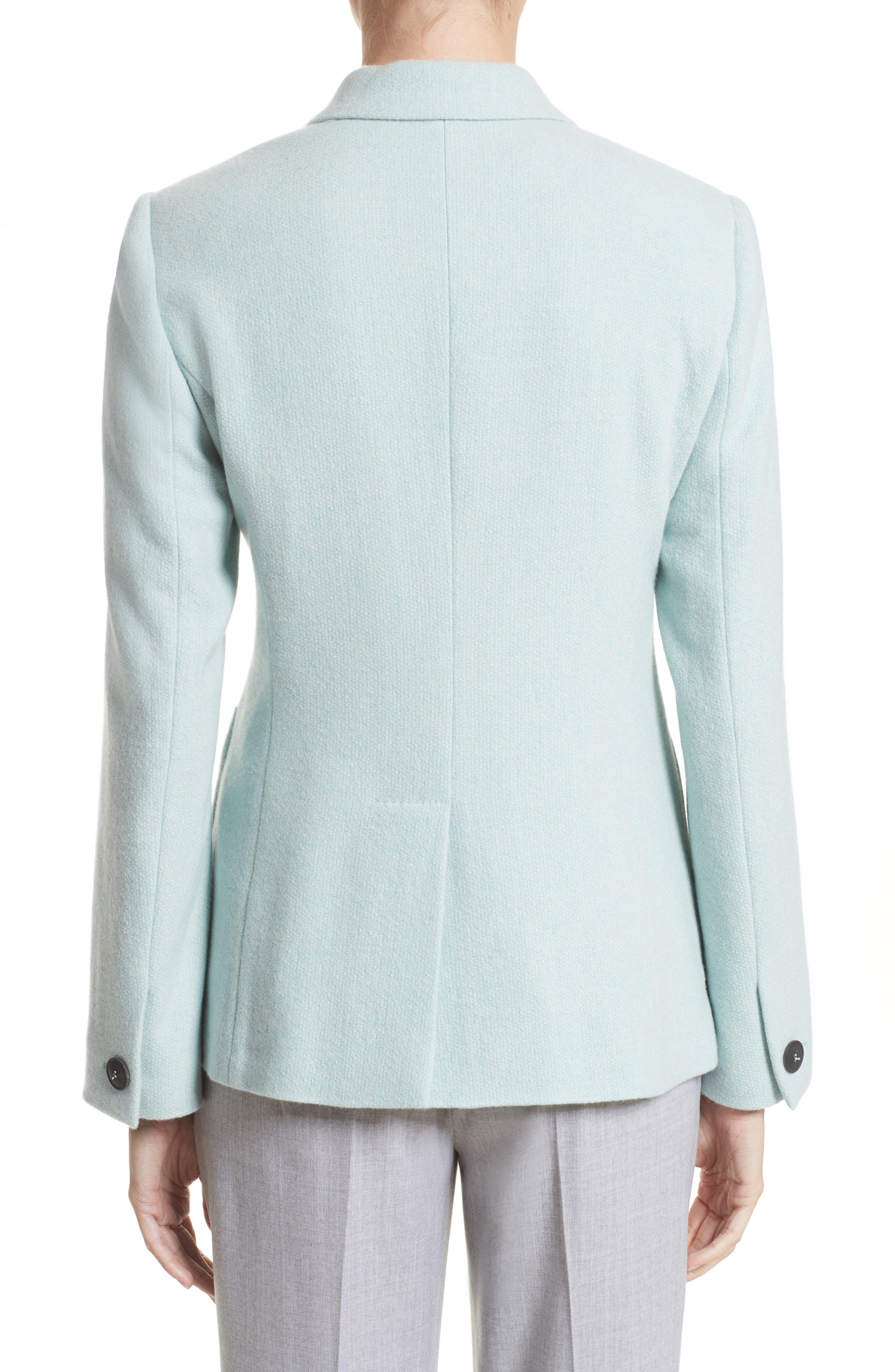 Pola Cashmere Jacket,                             Alternate thumbnail 2, color,                             Water