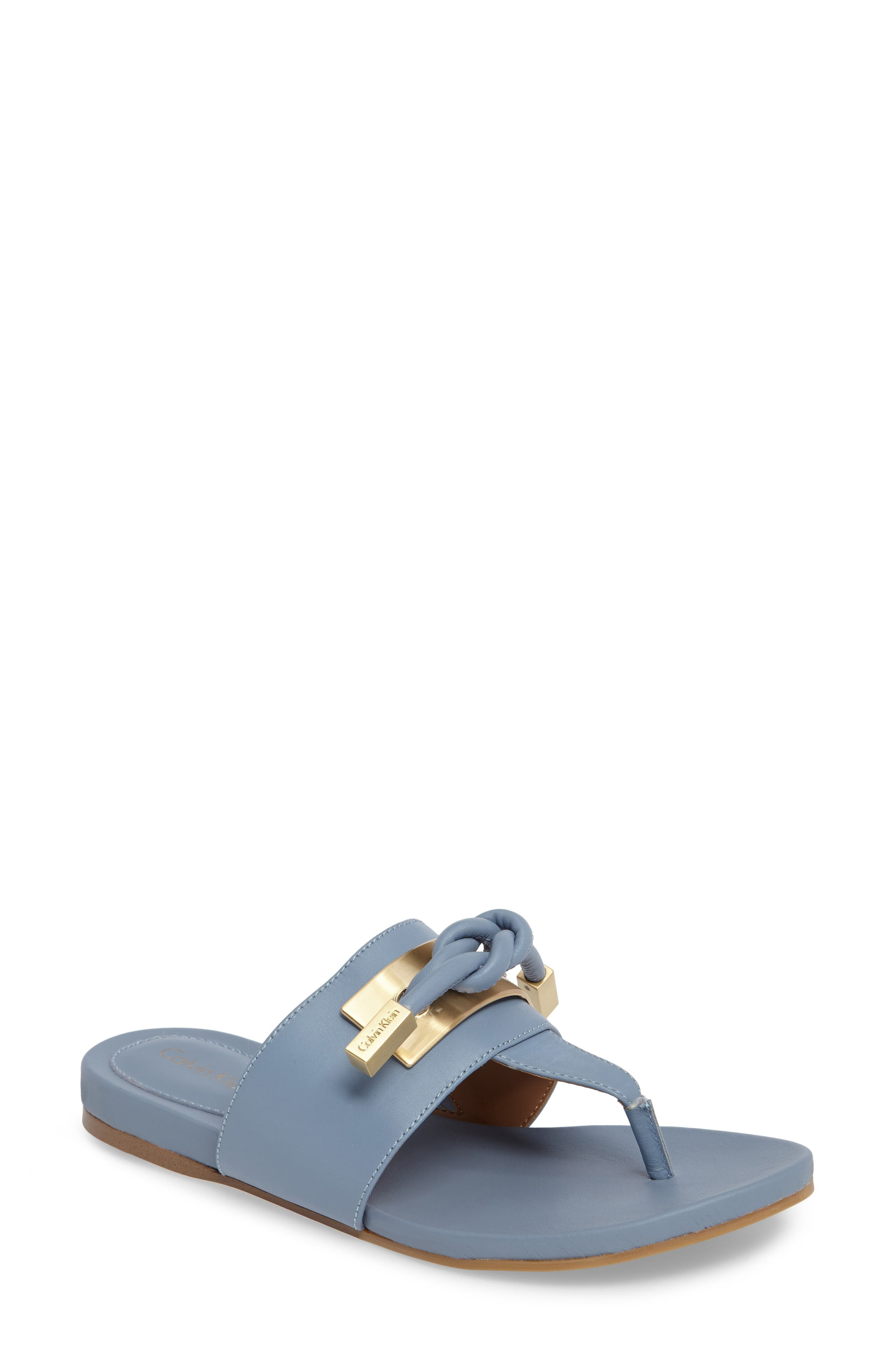 Alternate Image 1 Selected - Calvin Klein Parson Square Knot Flip Flop (Women)