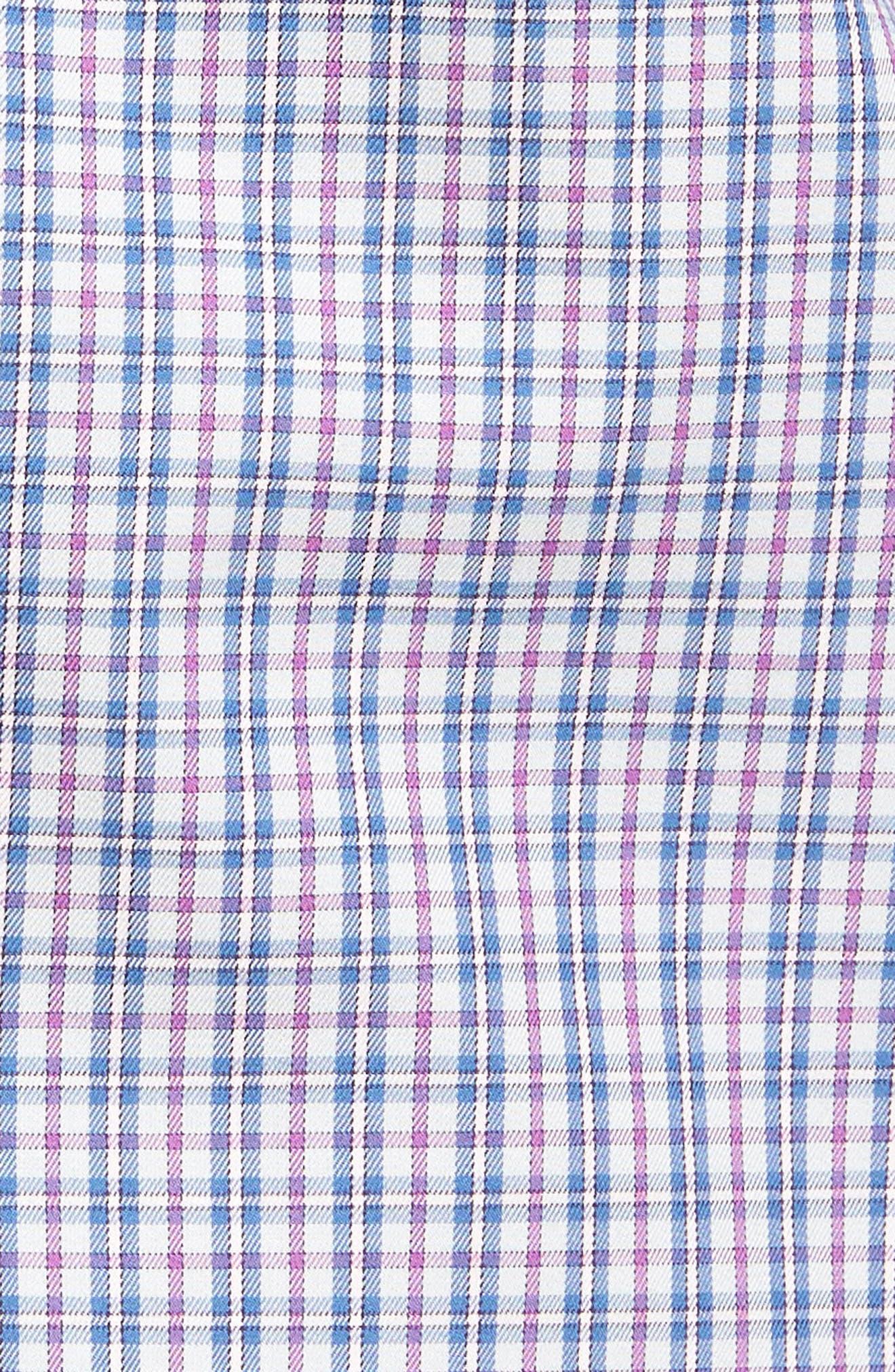 Hillock Plaid Regular Fit Sport Shirt,                             Alternate thumbnail 5, color,                             Stingray