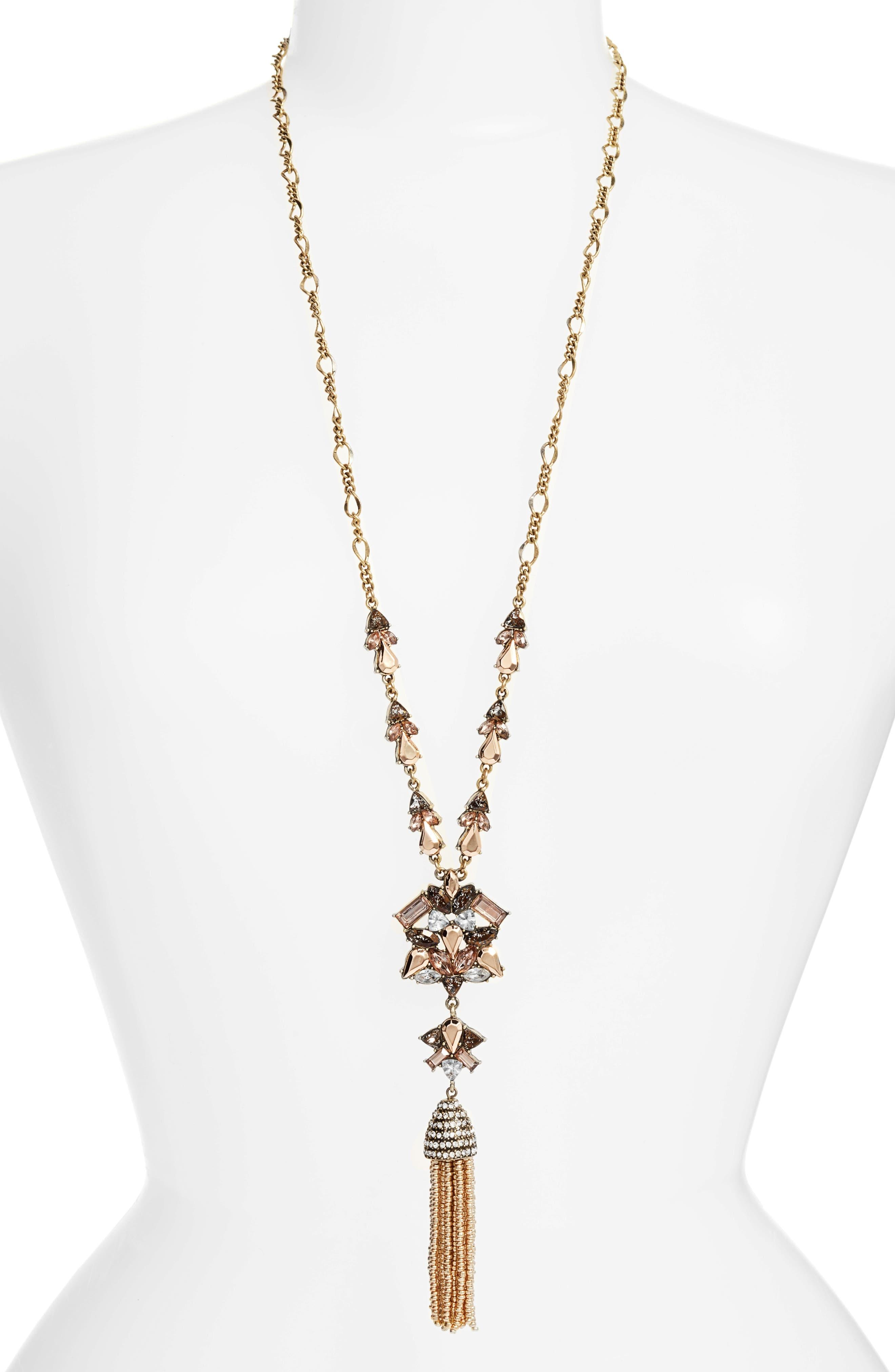 Alternate Image 1 Selected - Baublebar Cosma Tassel Pendant Necklace