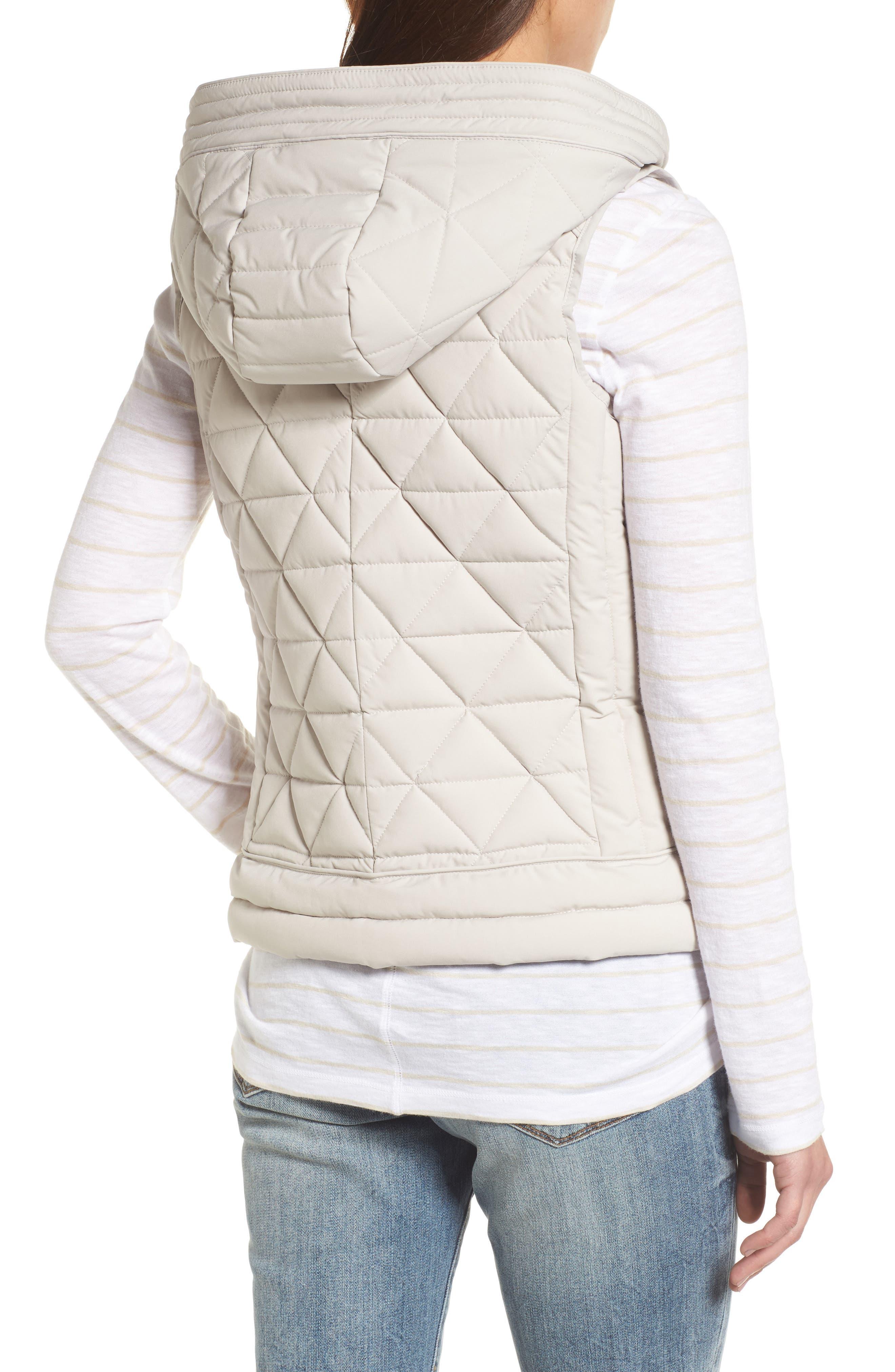 Sage Hooded Quilted Vest,                             Alternate thumbnail 2, color,                             Fog