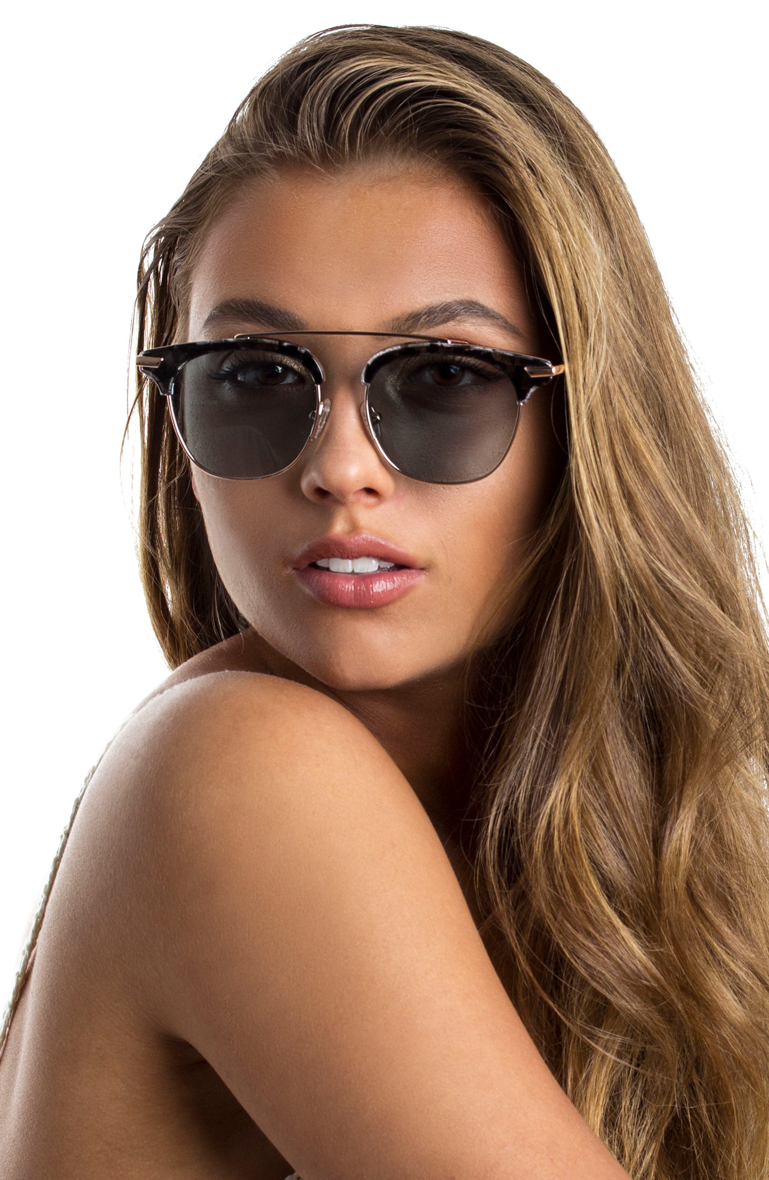 Alternate Image 4  - Bonnie Clyde Midway 51mm Polarized Brow Bar Sunglasses