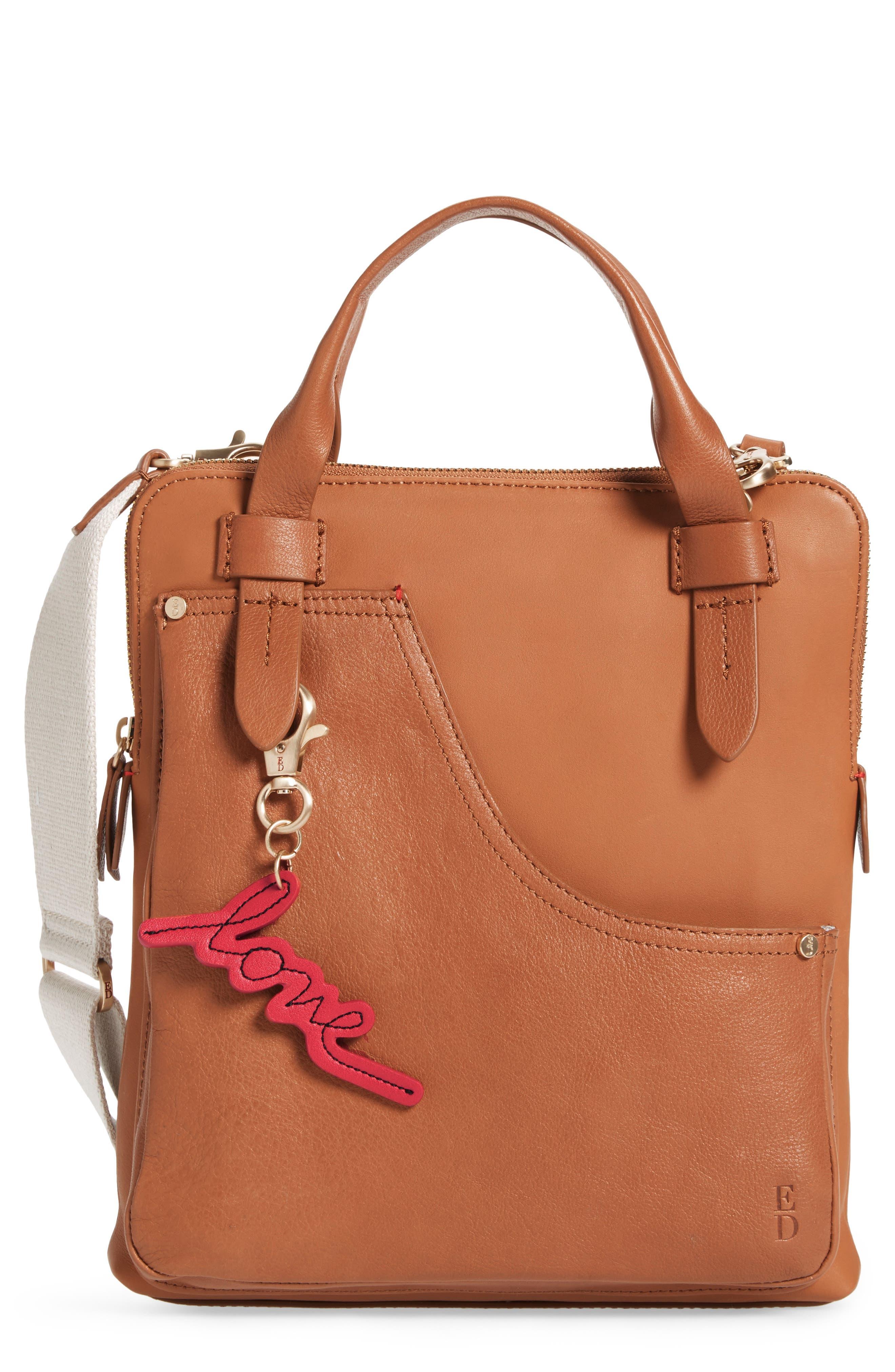 ED Ellen Degeneres Carml Leather Crossbody Bag