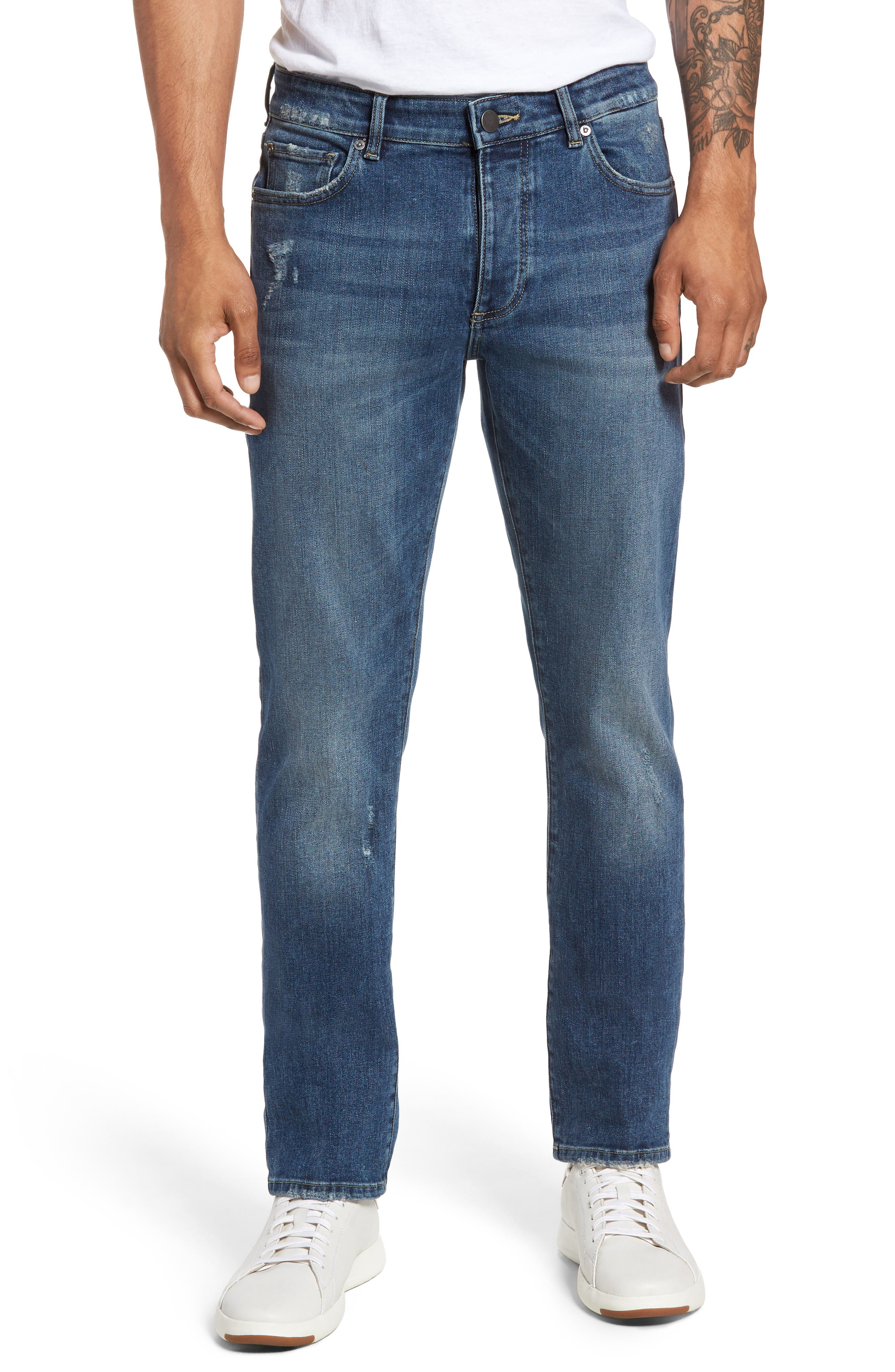 Russell Slim Straight Fit Jeans,                             Main thumbnail 1, color,                             Twine
