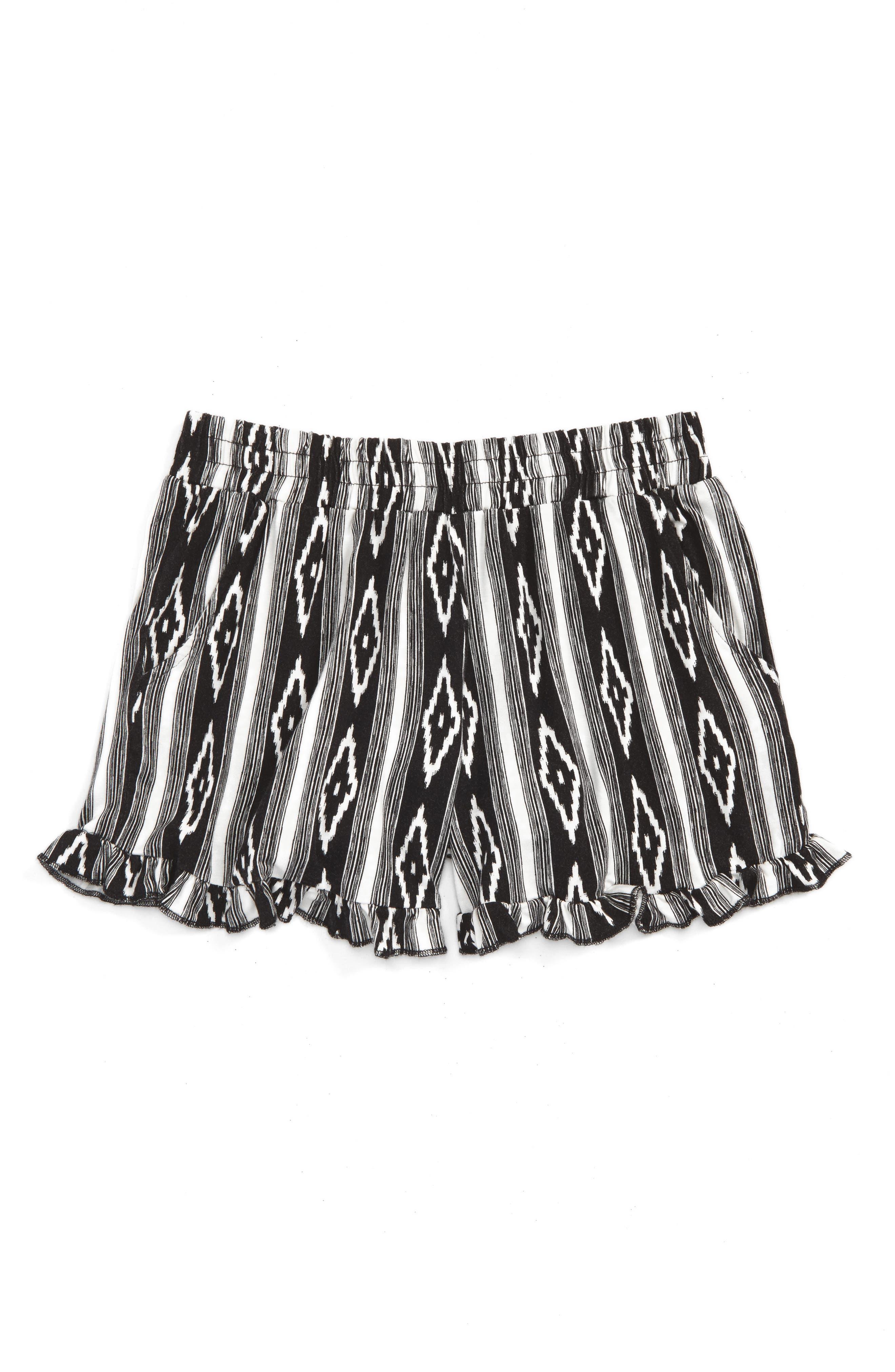 Tucker + Tate Print Ruffle Shorts (Big Girls)
