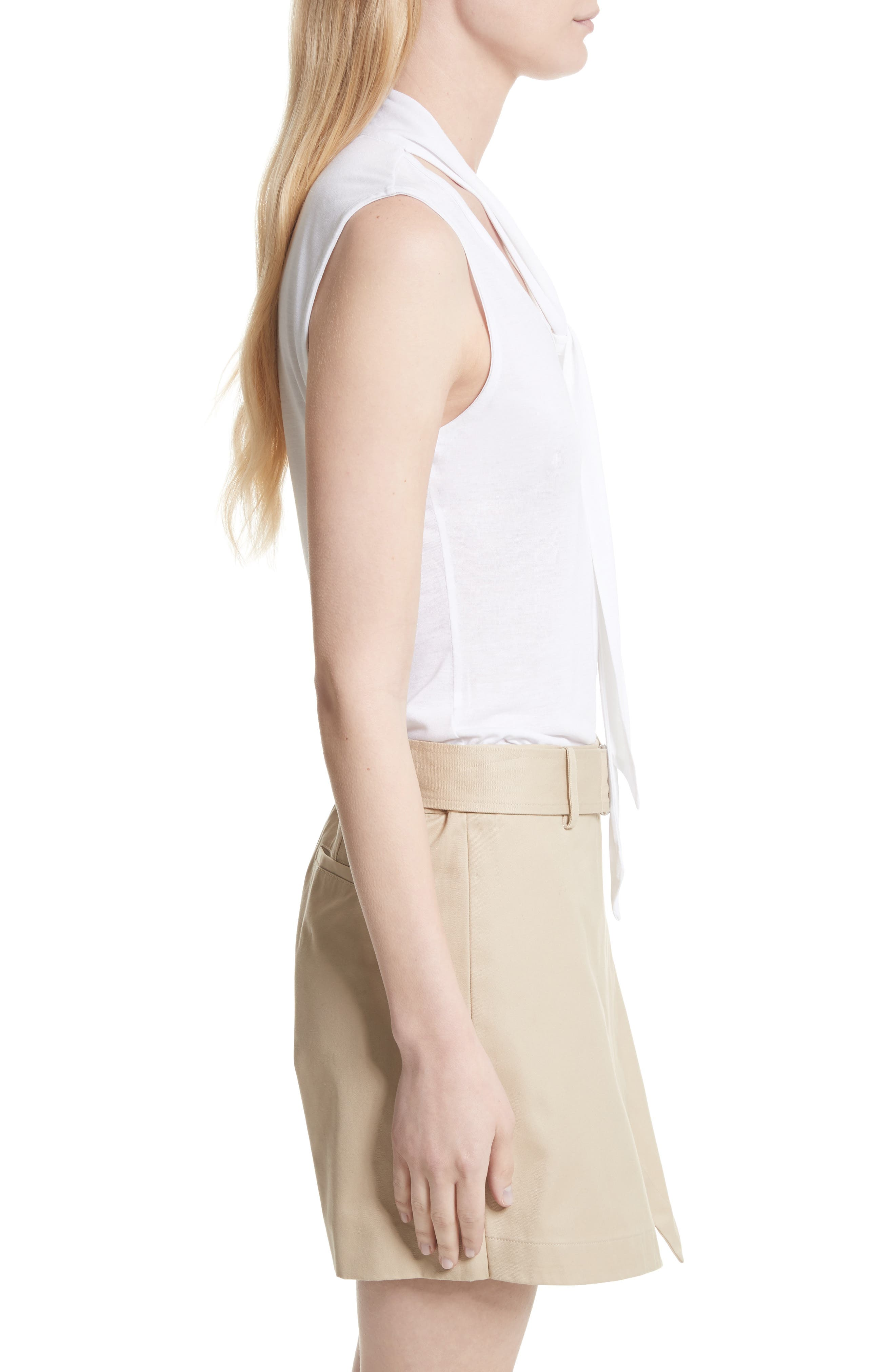 Alternate Image 3  - FRAME Sleeveless Tie Neck Blouse