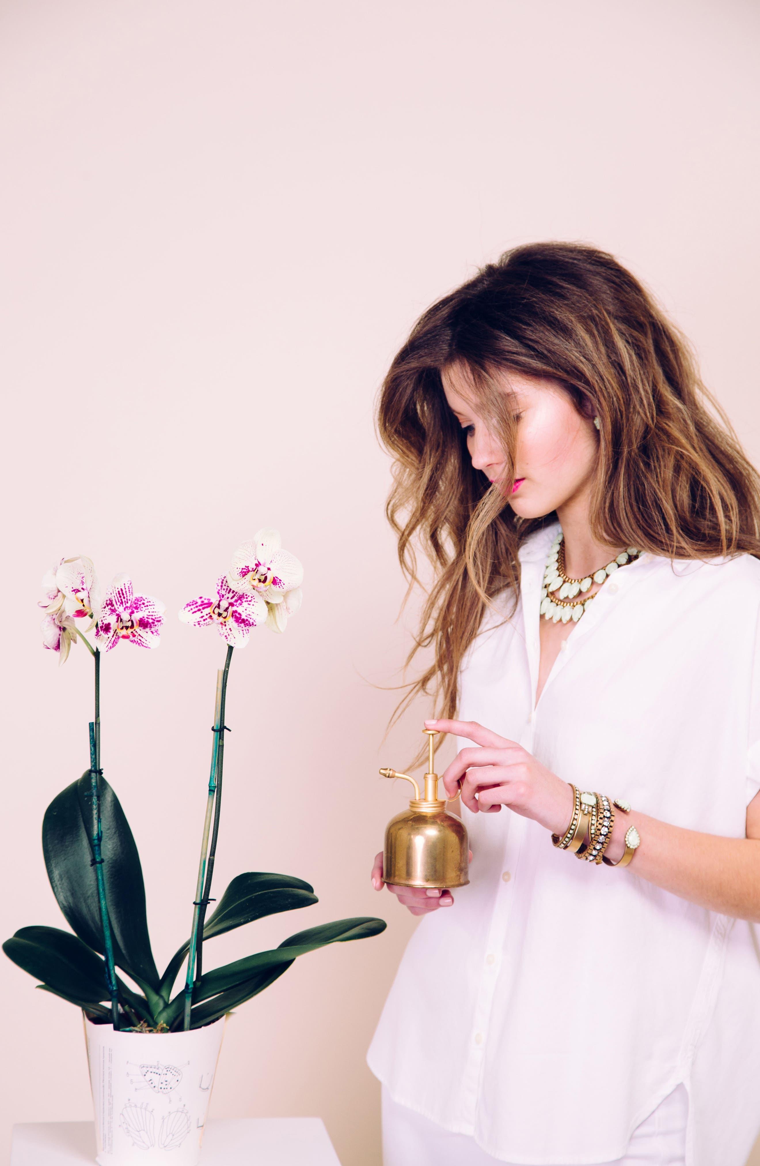 'Sylvia' Crystal Collar Necklace,                             Alternate thumbnail 3, color,                             Milky Green