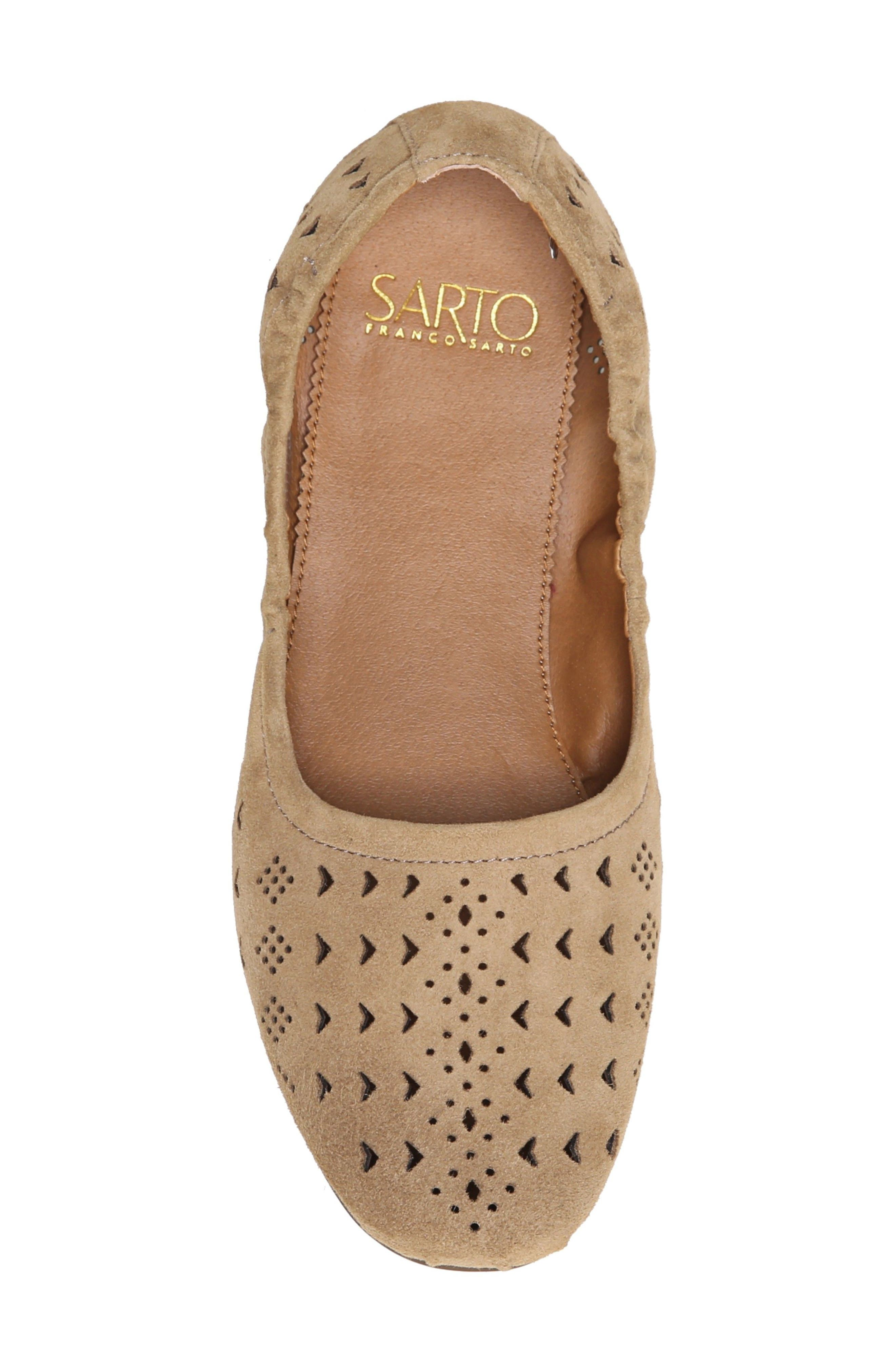 Alternate Image 5  - SARTO by Franco Sarto Brewer Perforated Ballet Flat (Women)
