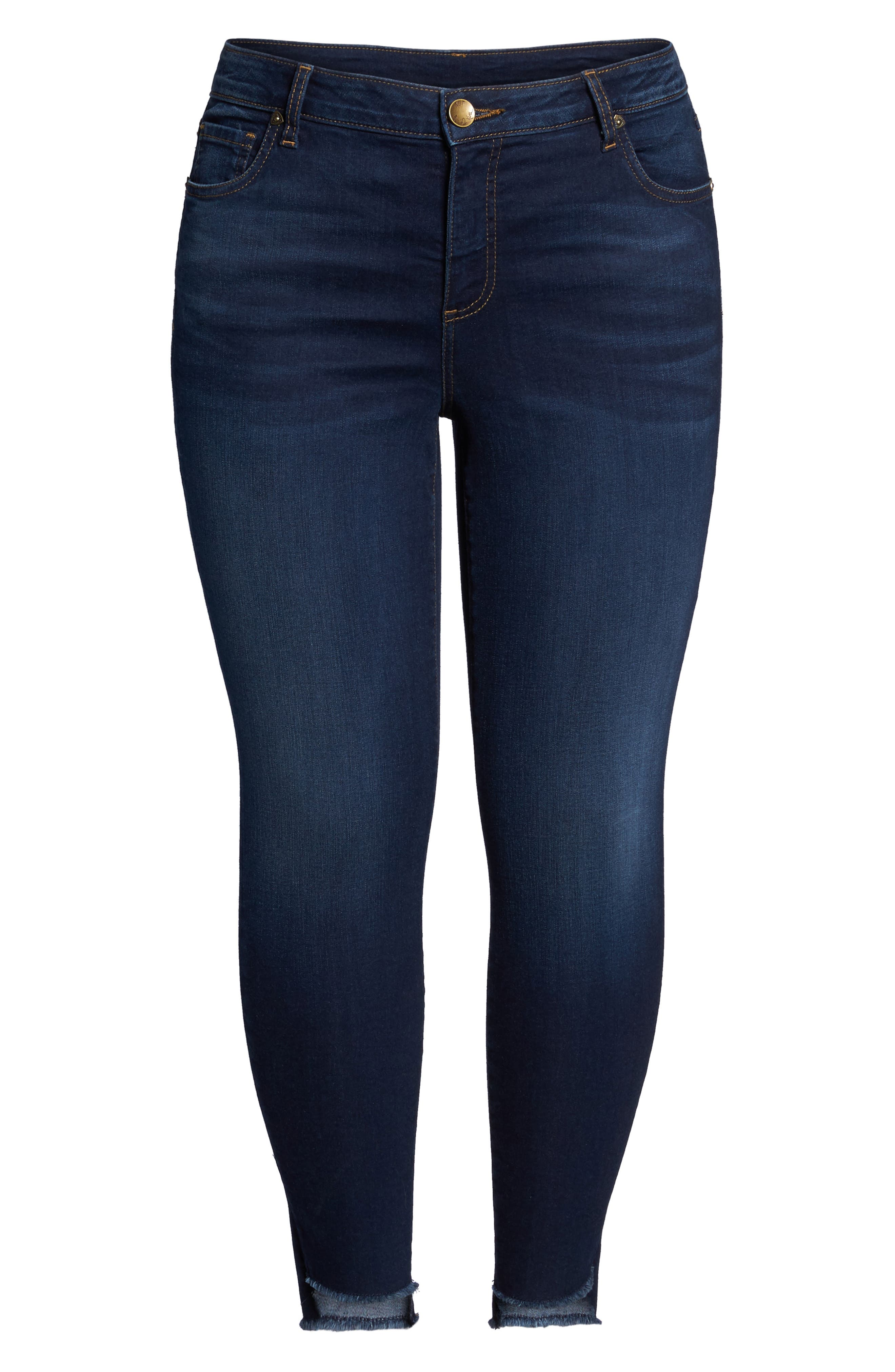 Connie Step Hem Skinny Ankle Jeans,                             Alternate thumbnail 6, color,                             Packable