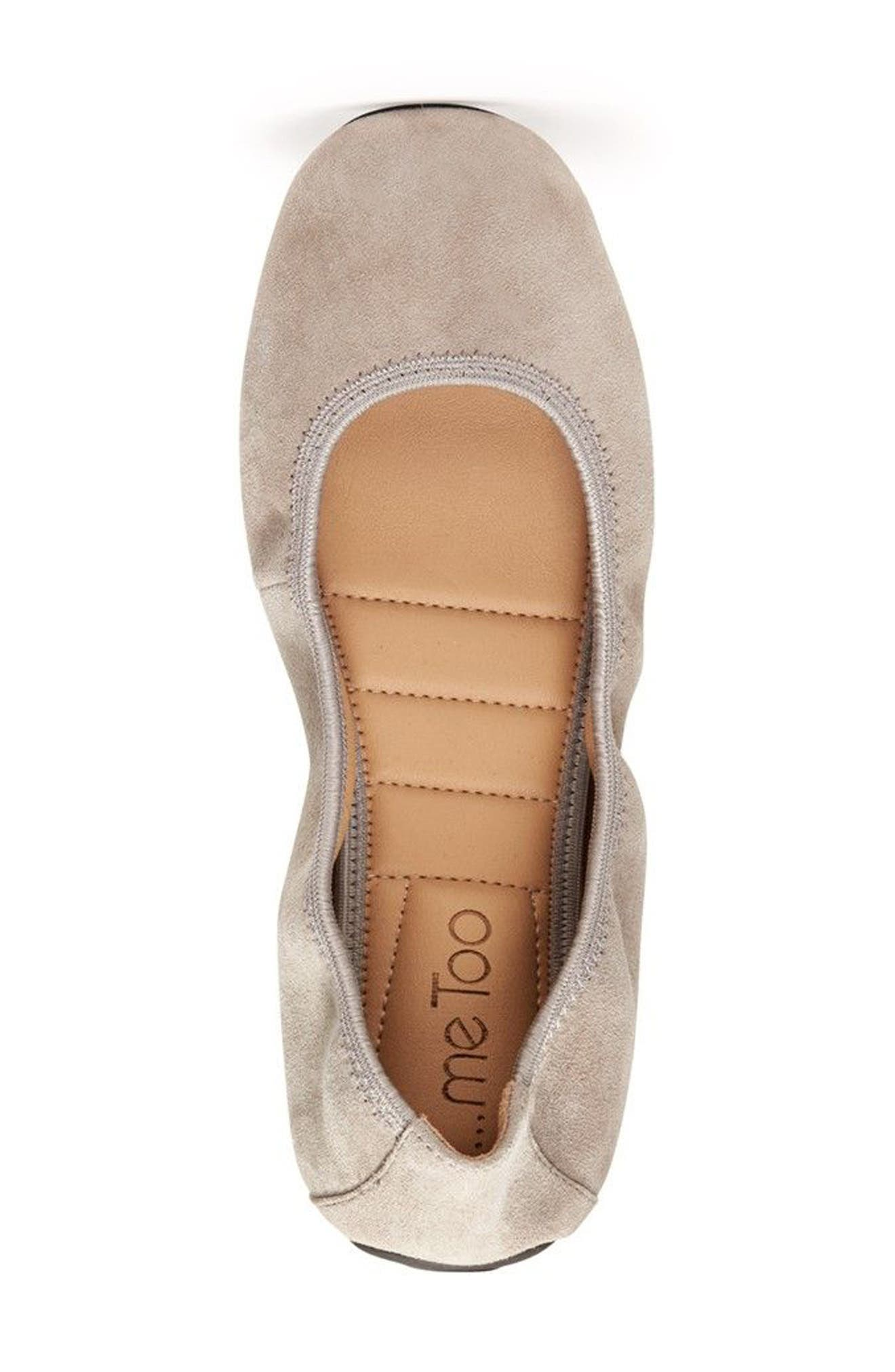 'Icon' Flat,                             Alternate thumbnail 4, color,                             Light Grey Suede