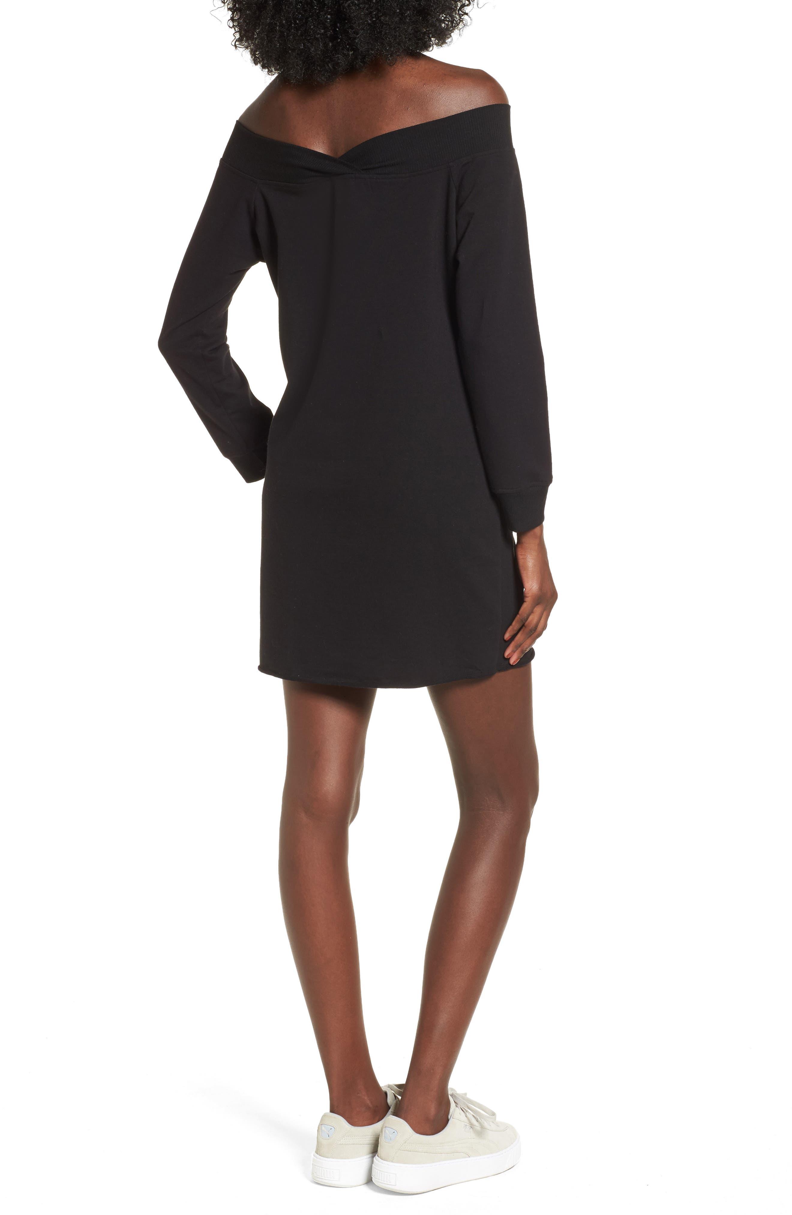 Alternate Image 2  - Socialite Off the Shoulder Sweatshirt Dress