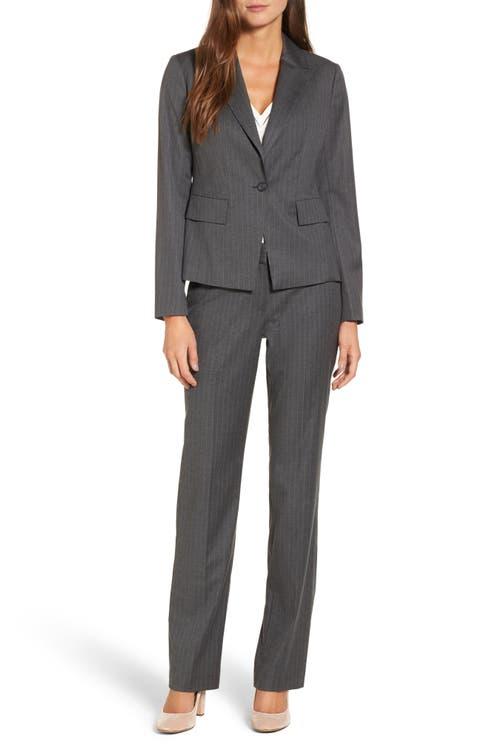 Main Image - Halogen® Pinstripe One-Button Suit Jacket (Regular & Petite)