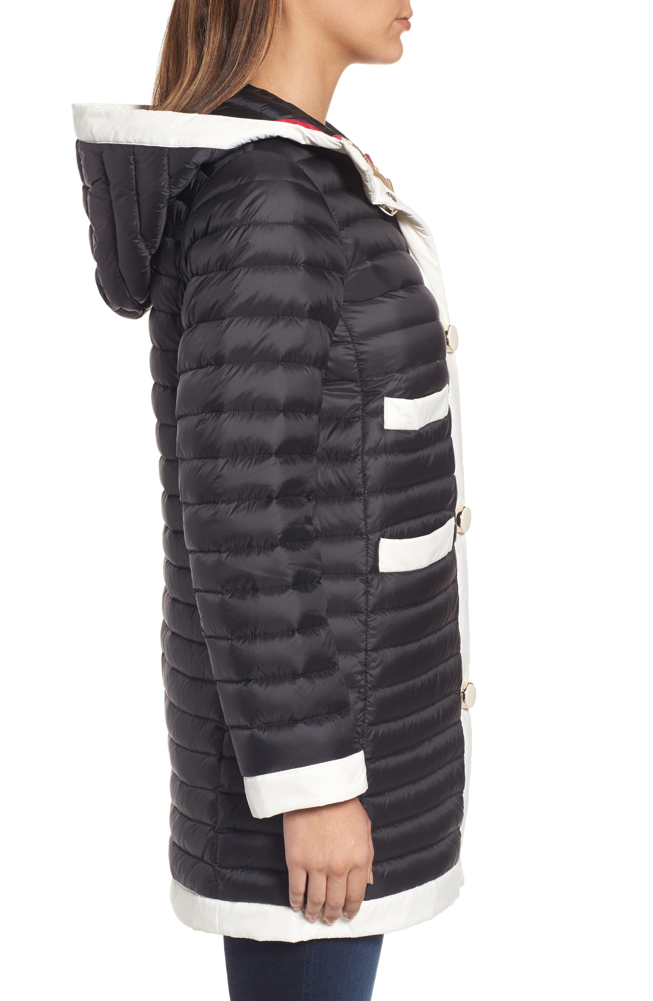 Alternate Image 3  - kate spade new york contrast trim hooded puffer coat