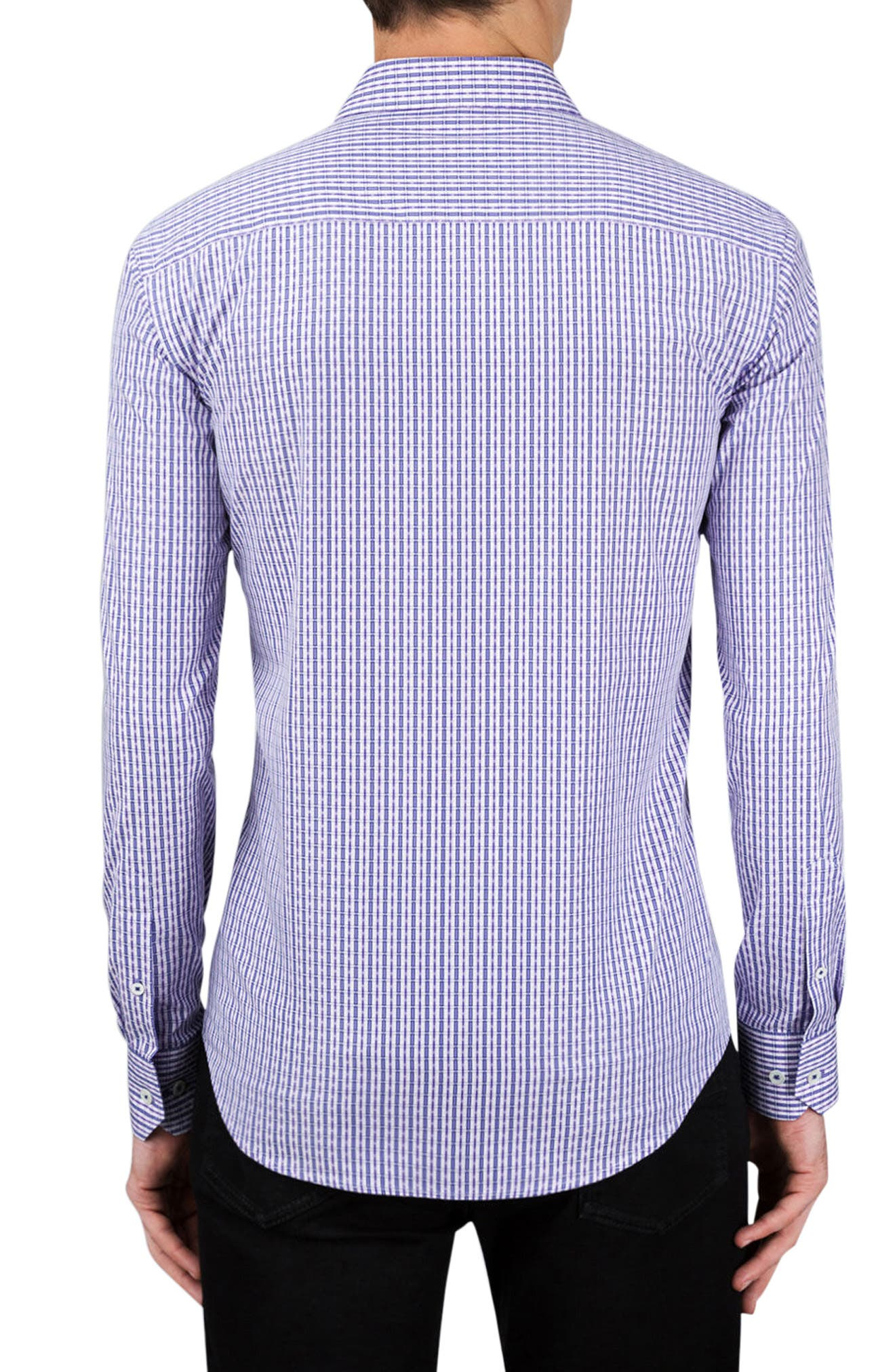Shaped Fit Check Sport Shirt,                             Alternate thumbnail 2, color,                             Lilac