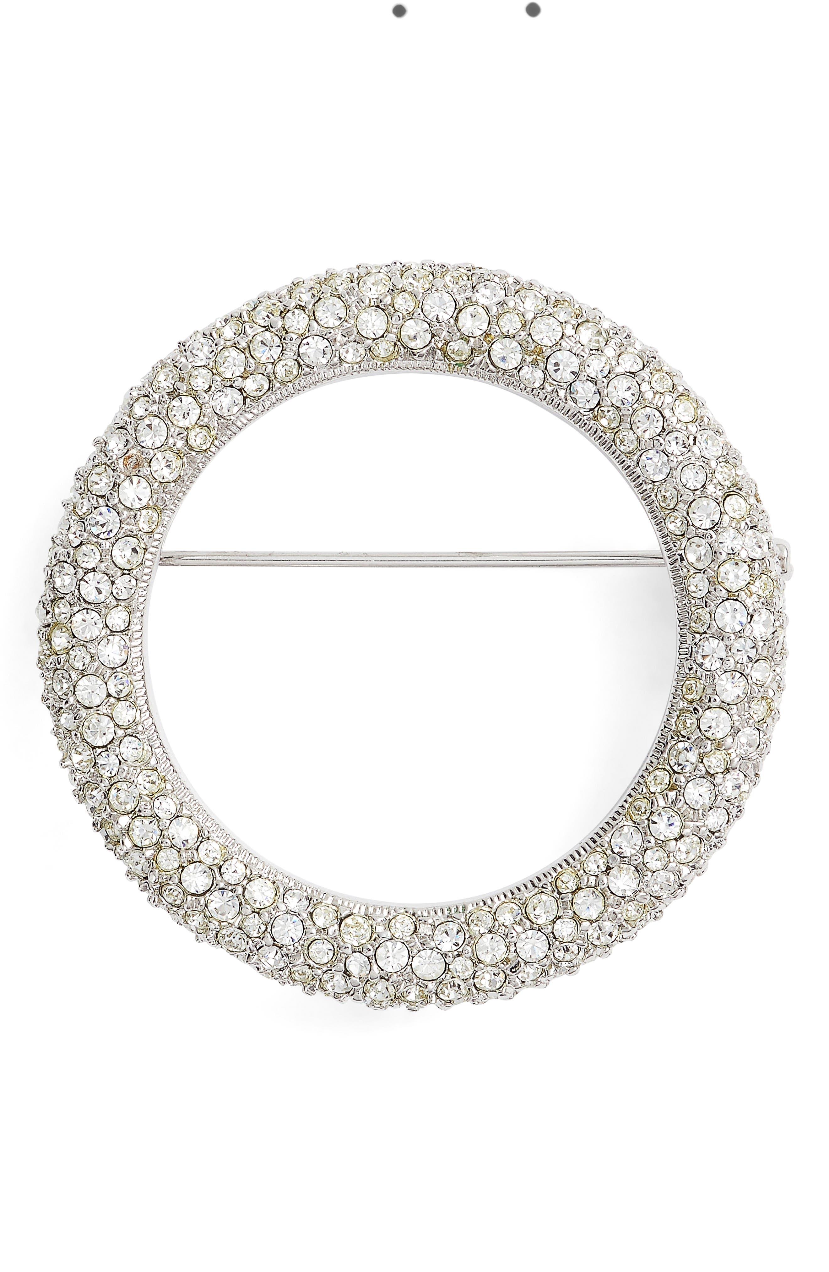 Alternate Image 1 Selected - Nadri Pavé Circle Brooch
