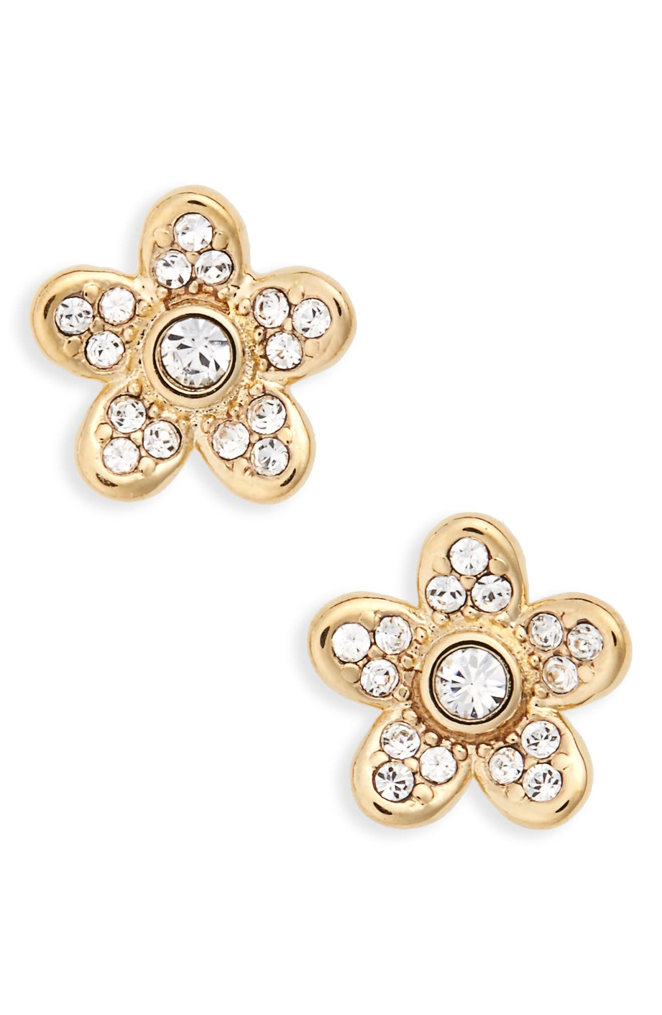MARC JACOBS Coin Flower Stud Earrings