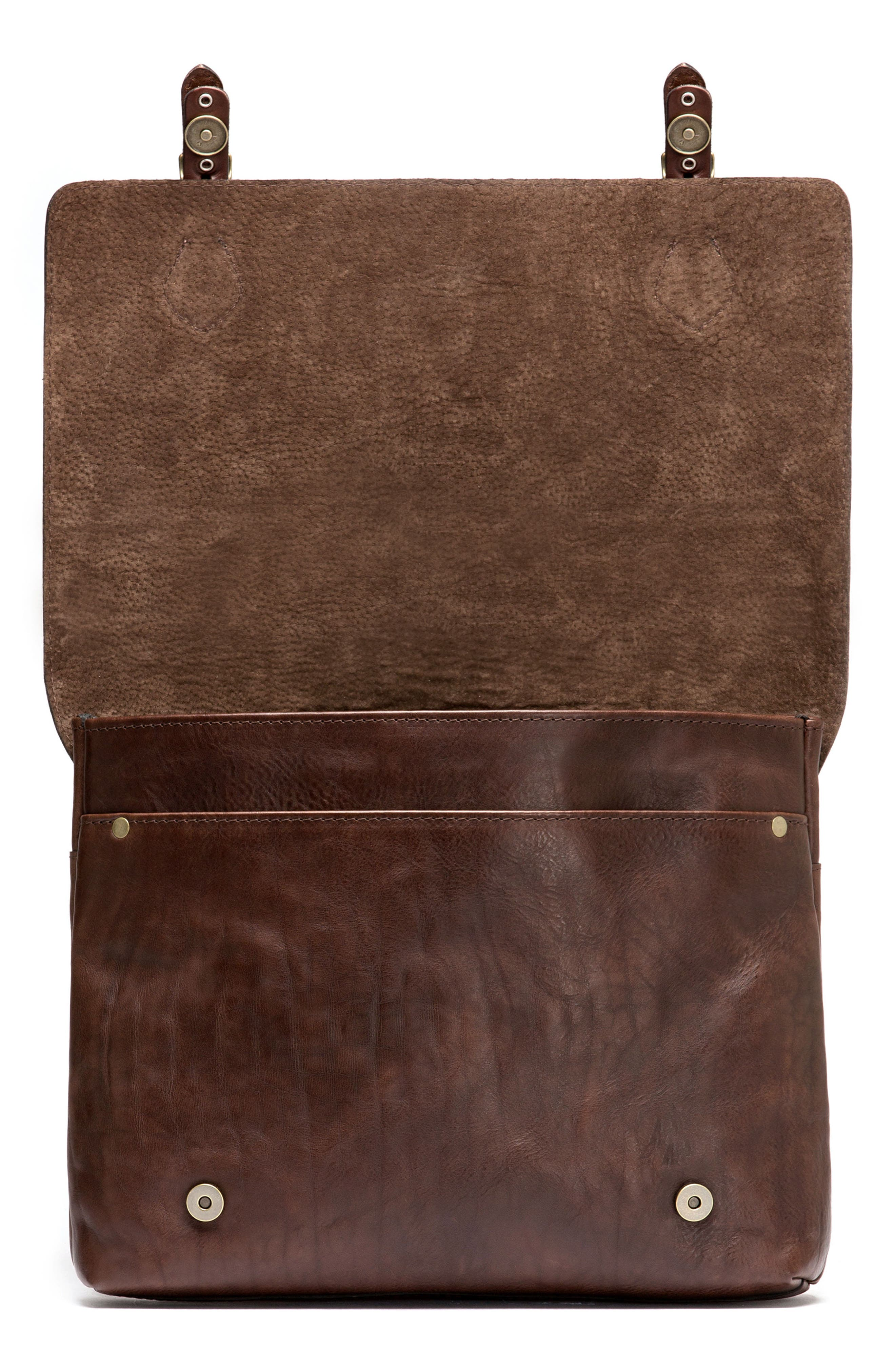 Woodstock Leather Satchel,                             Alternate thumbnail 4, color,                             Cocoa