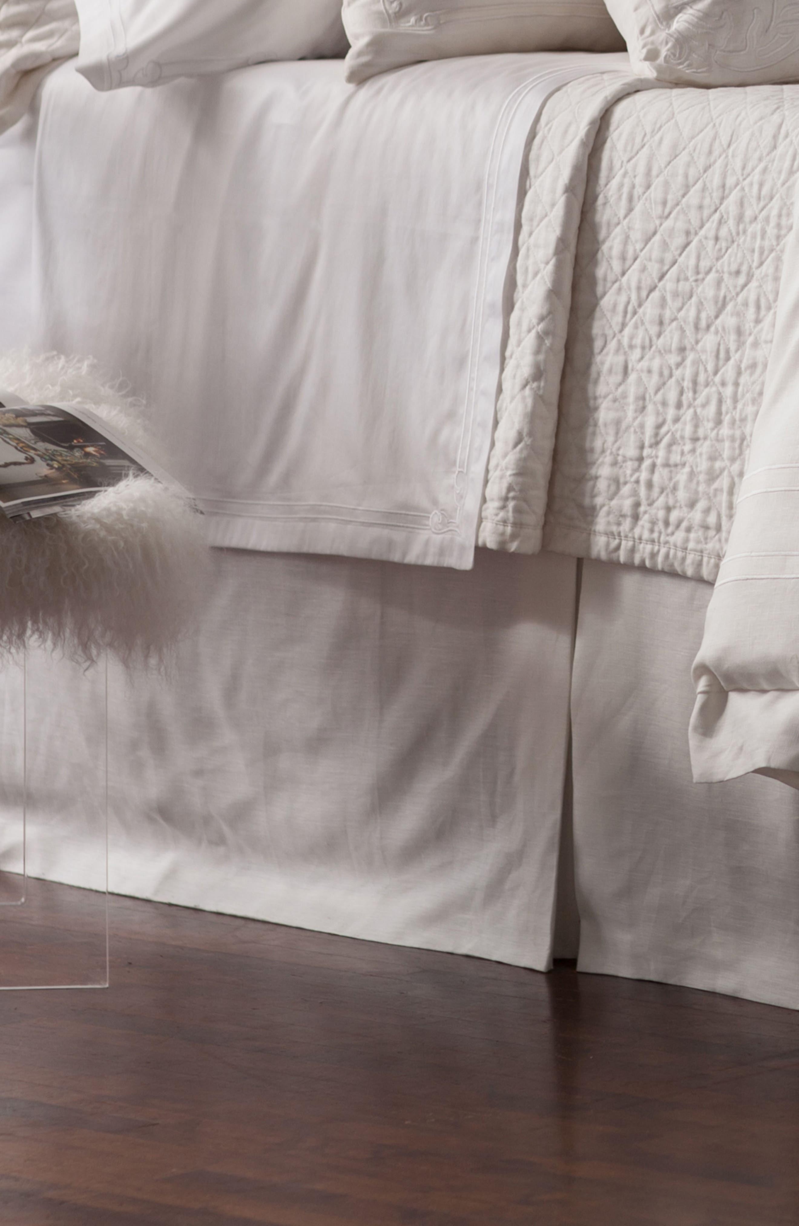 Casablanca Bed Skirt,                         Main,                         color, White