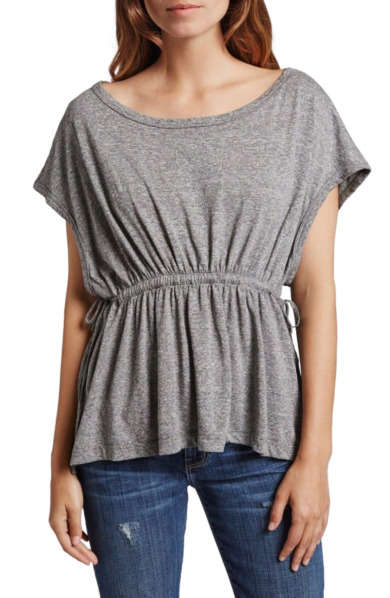 The Knit Sawyer Top,                         Main,                         color, Heather Grey