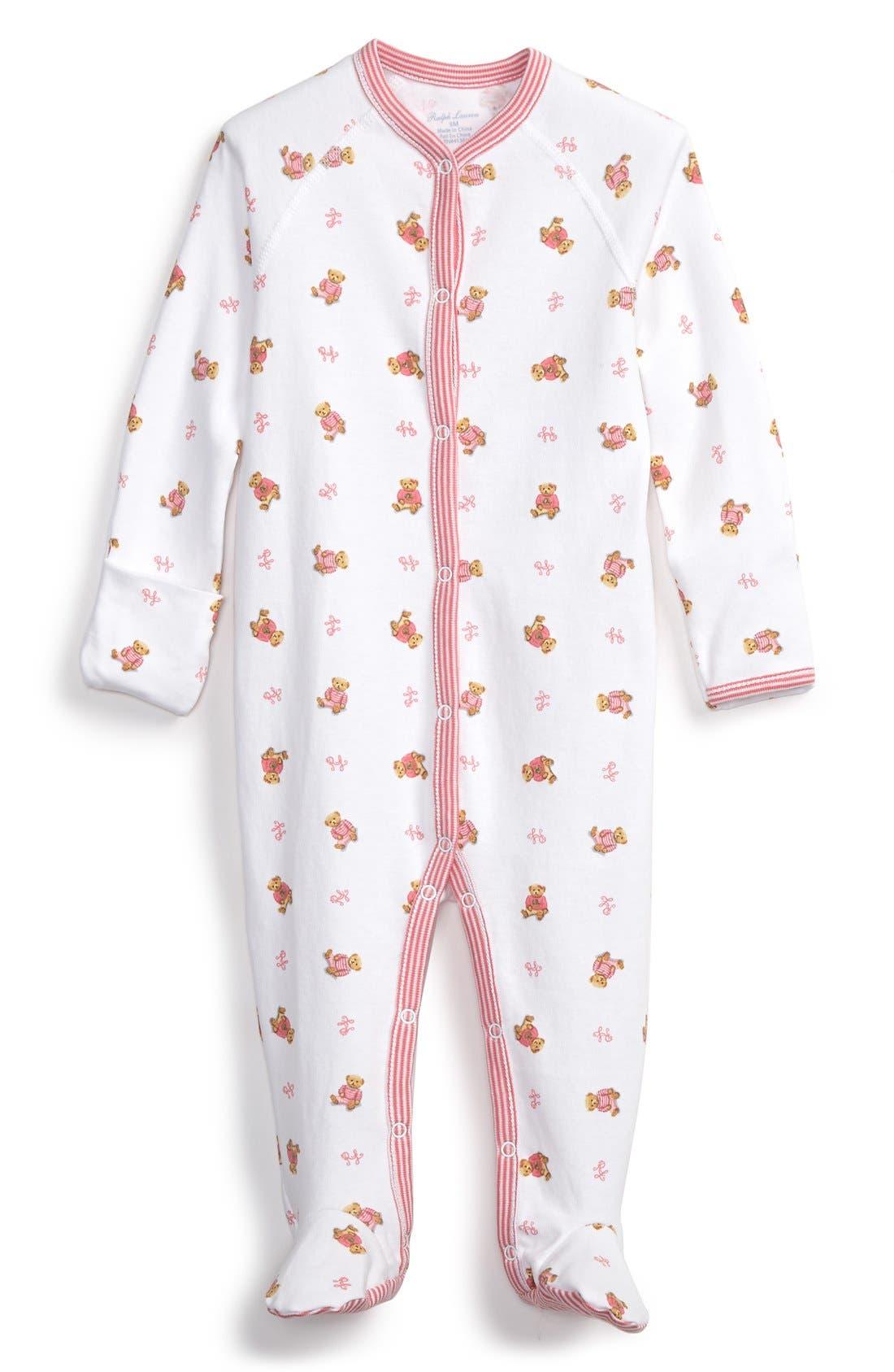 Print Cotton One-Piece,                         Main,                         color, Paisley Pink Multi