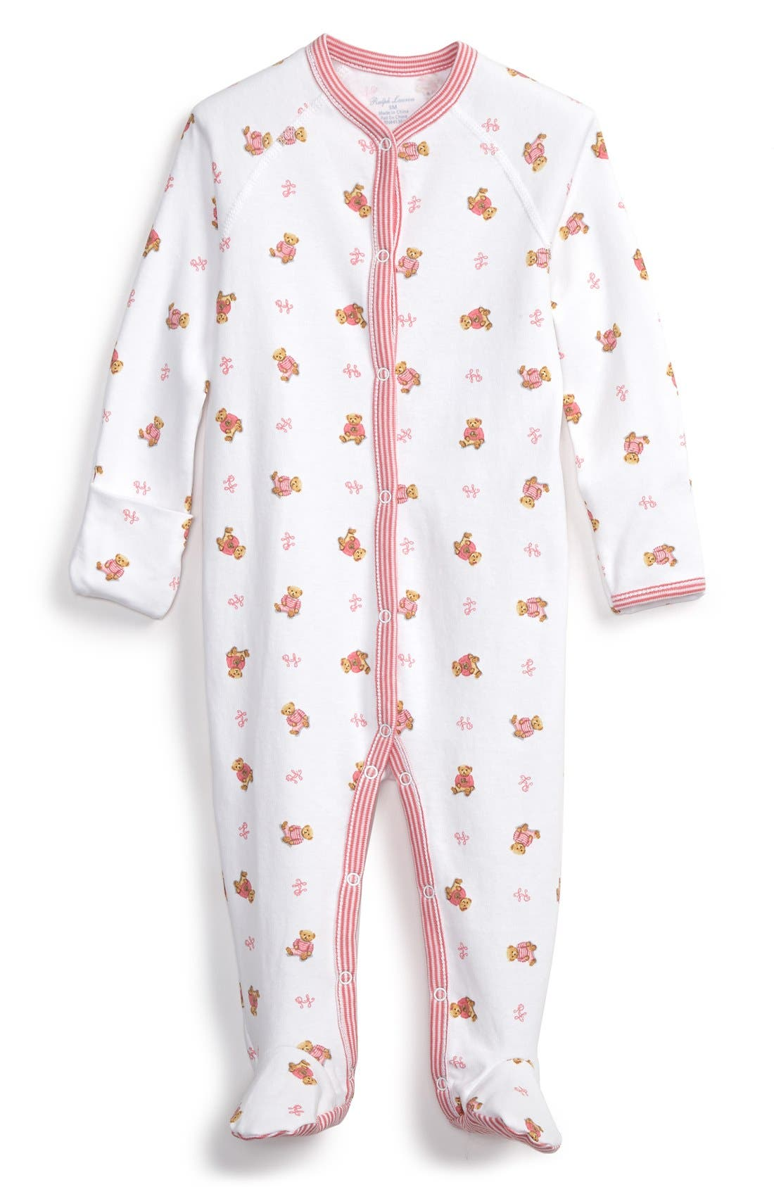 Ralph Lauren Print Cotton One-Piece (Baby Girls)