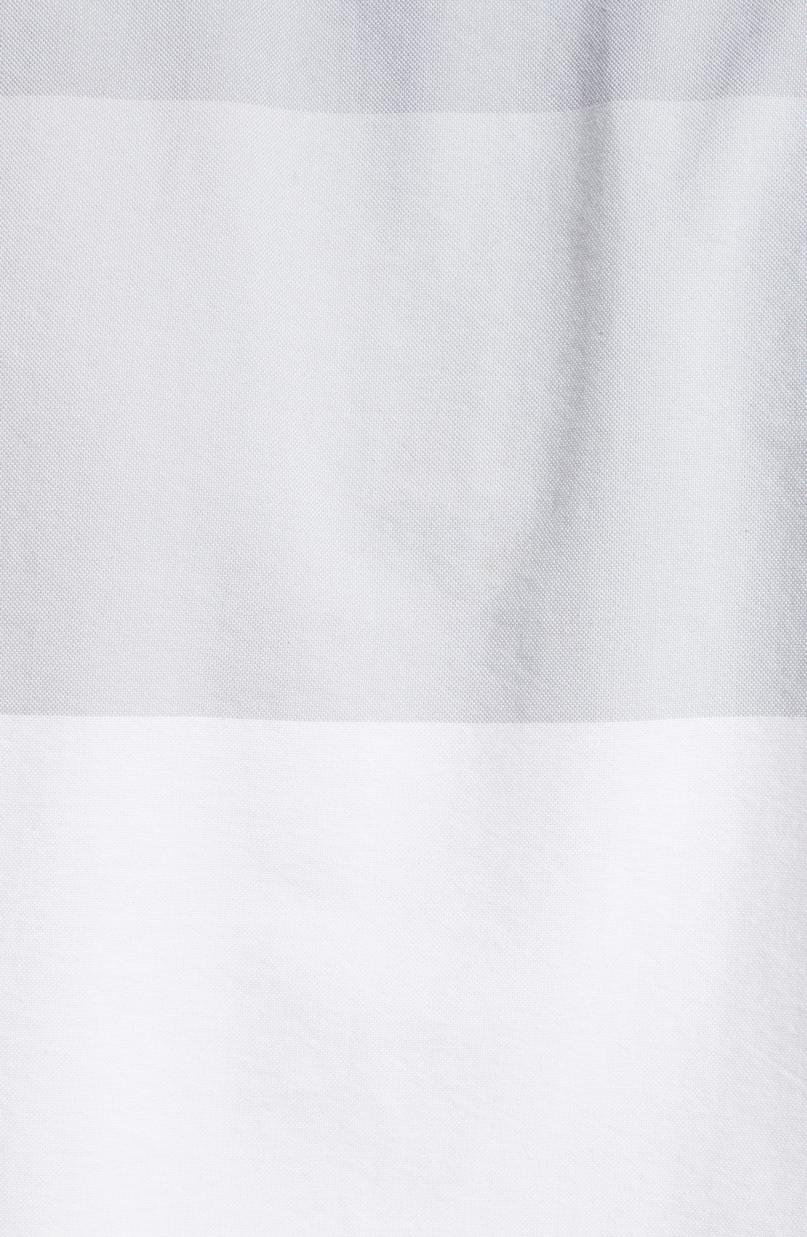 Alternate Image 5  - Thom Browne Trim Fit Large Stripe Sport Shirt