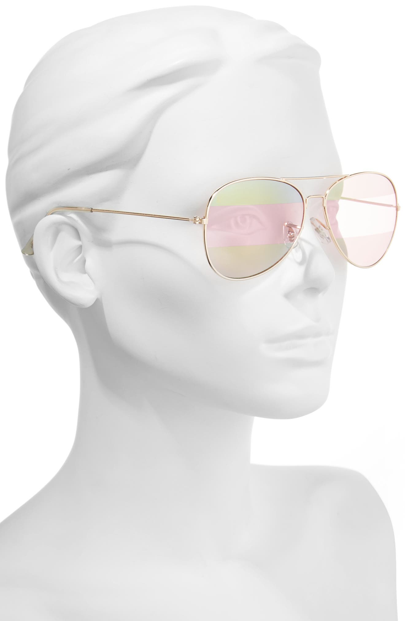 Alternate Image 2  - BP. 56mm Two-Tone Aviator Sunglasses