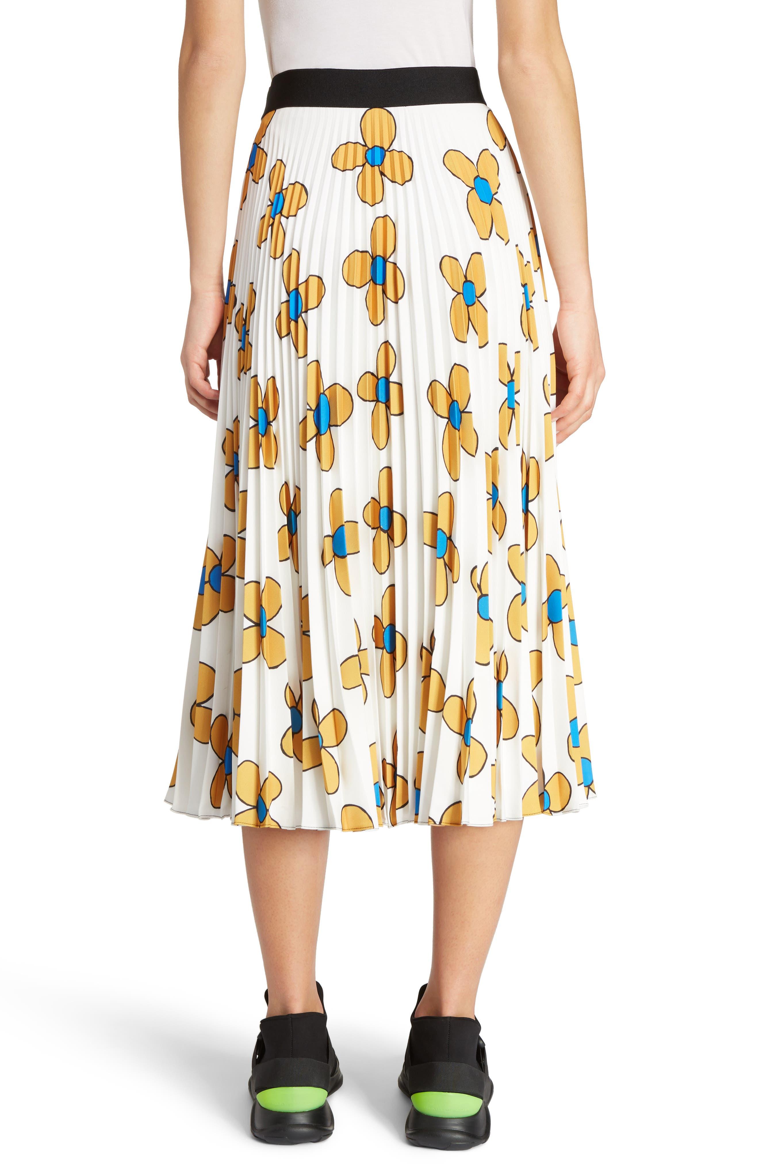 Alternate Image 2  - Christopher Kane Flower Print Midi Skirt