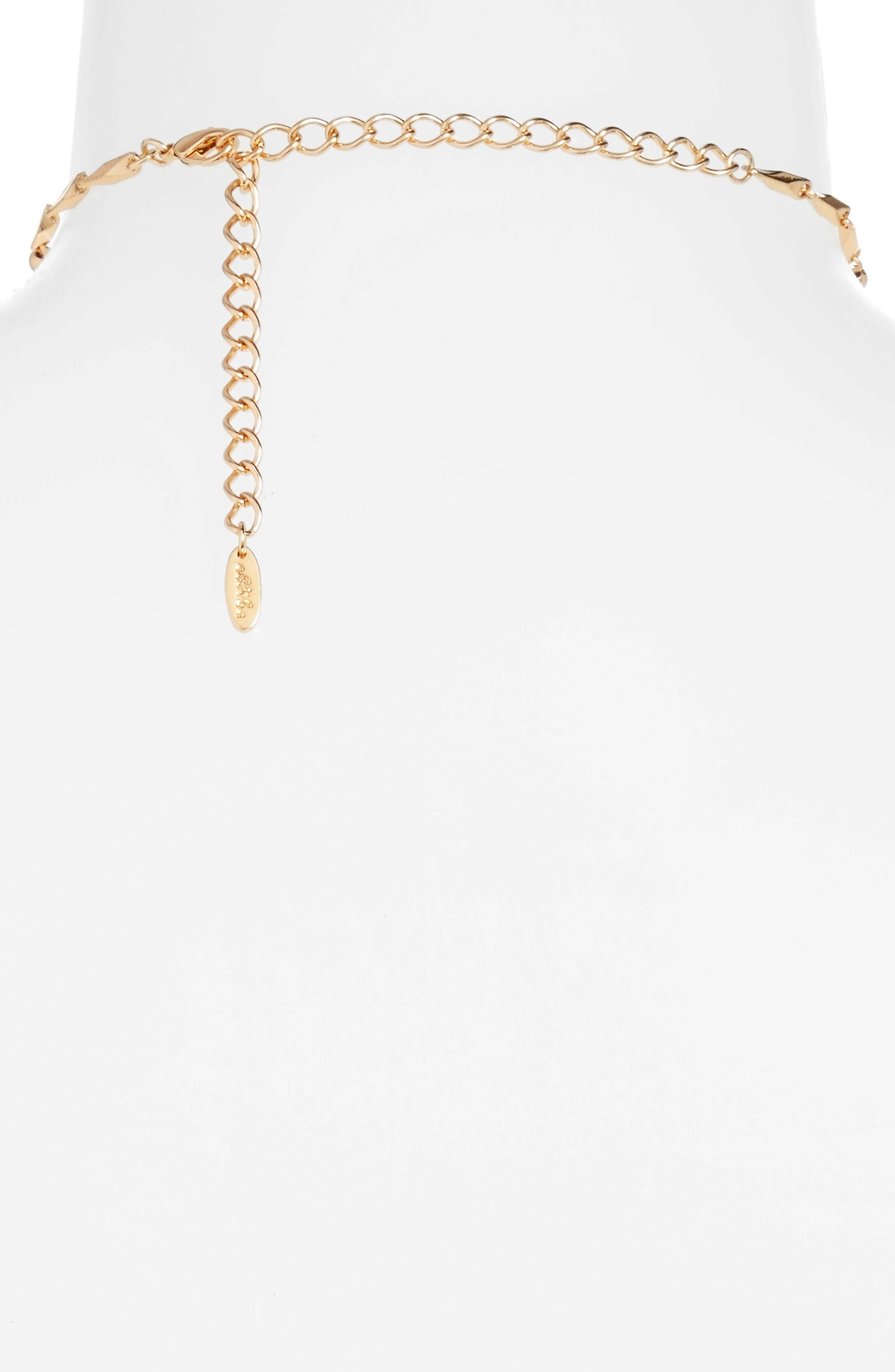 Lariat Necklace,                             Alternate thumbnail 2, color,                             Gold