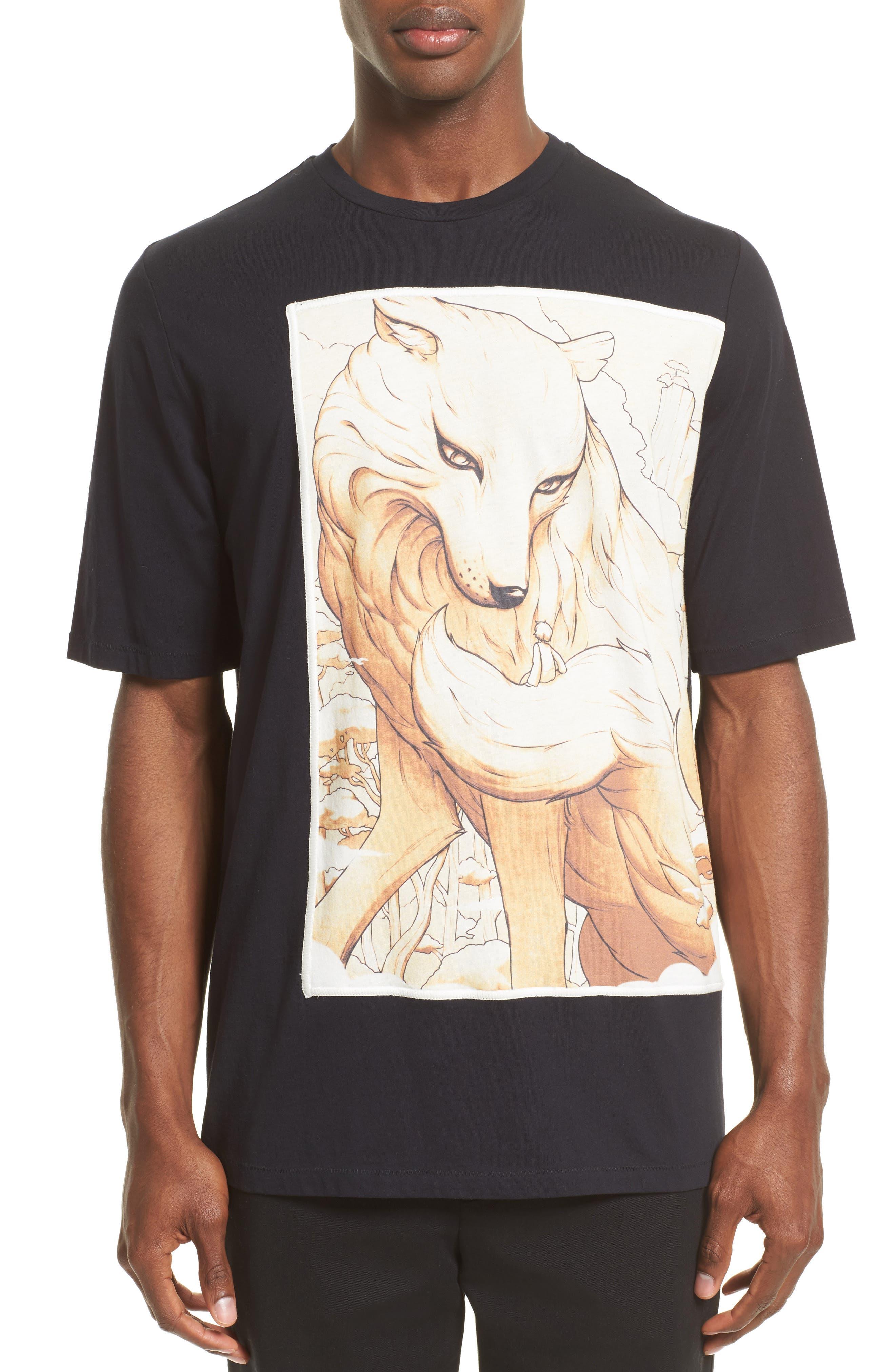 Animal Graphic T-Shirt,                         Main,                         color, Midnight