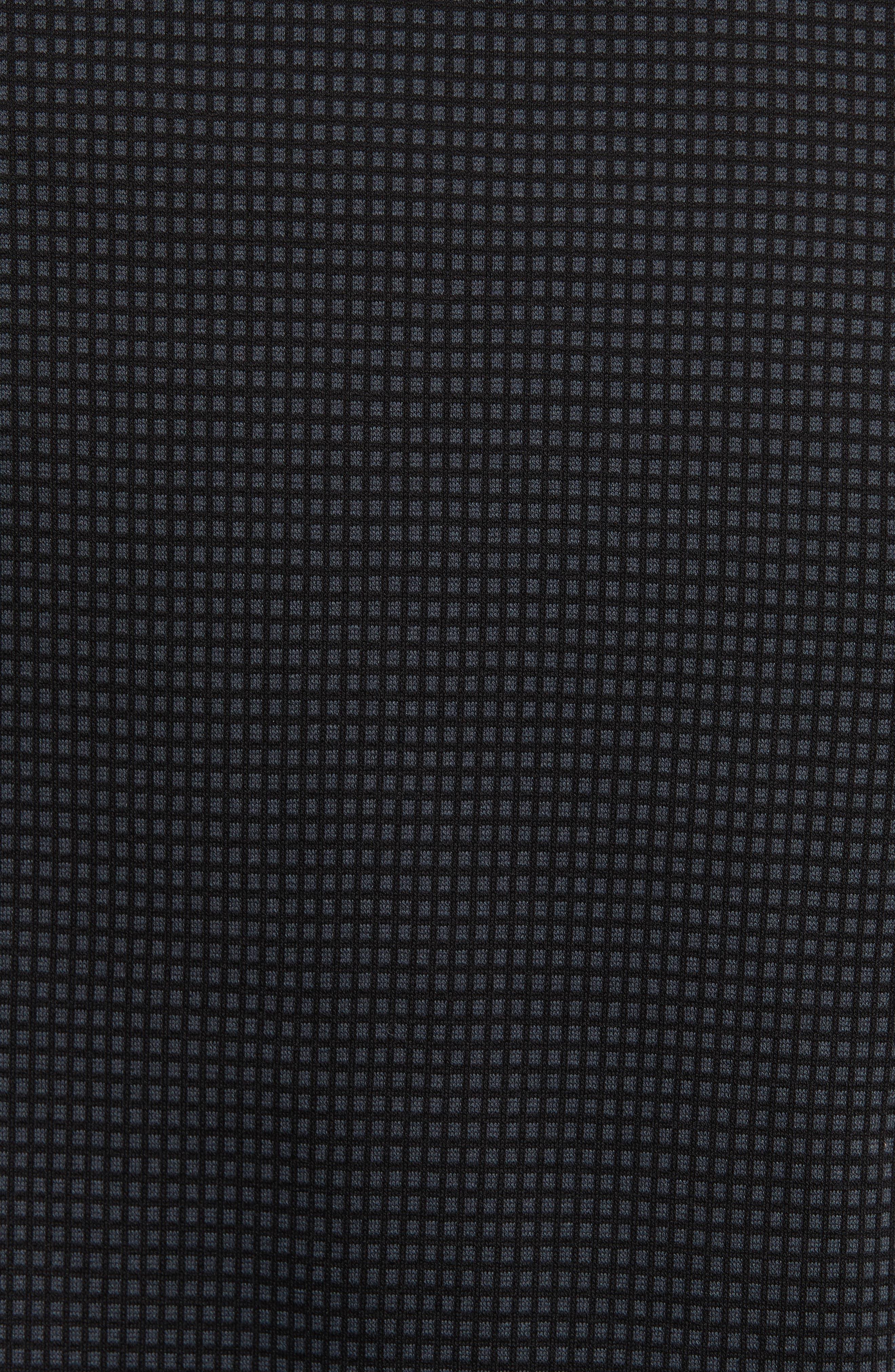 Neat Check Woven Sport Shirt,                             Alternate thumbnail 5, color,                             Checked Black