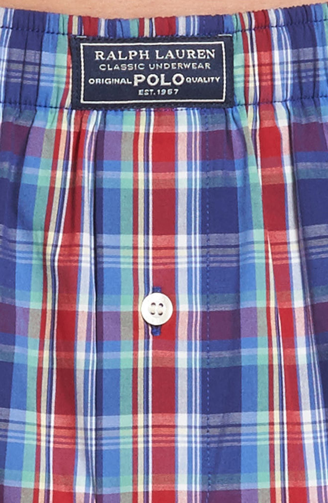 Classic Woven Cotten Boxers,                             Alternate thumbnail 4, color,                             Baxter Plaid