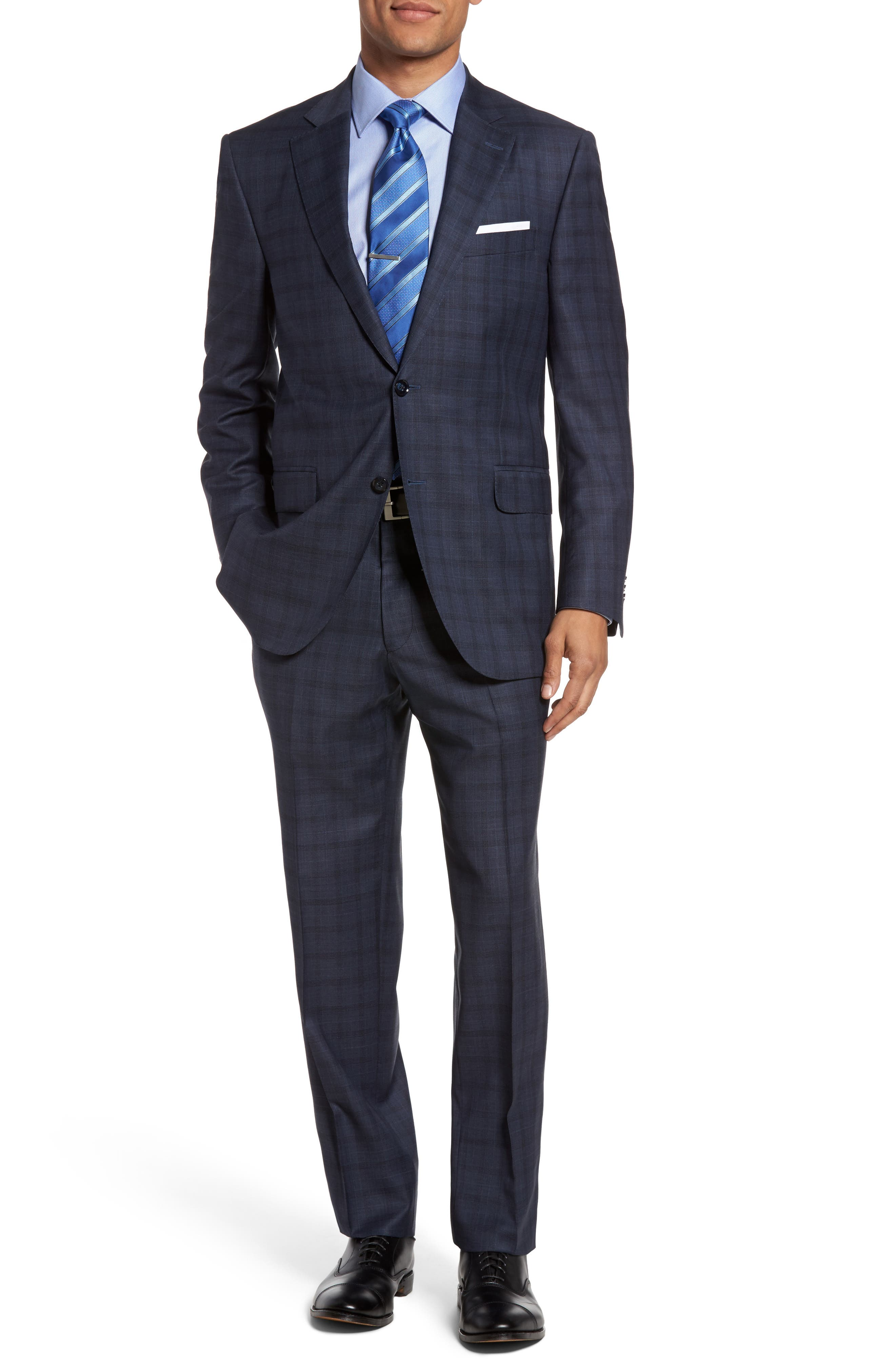 Peter Millar Flynn Classic Fit Plaid Wool Suit
